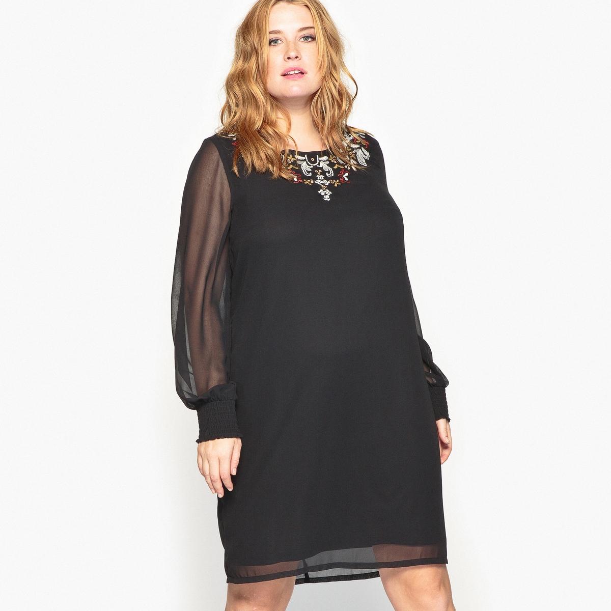 Платье прямое с вышивкой платье с вышивкой