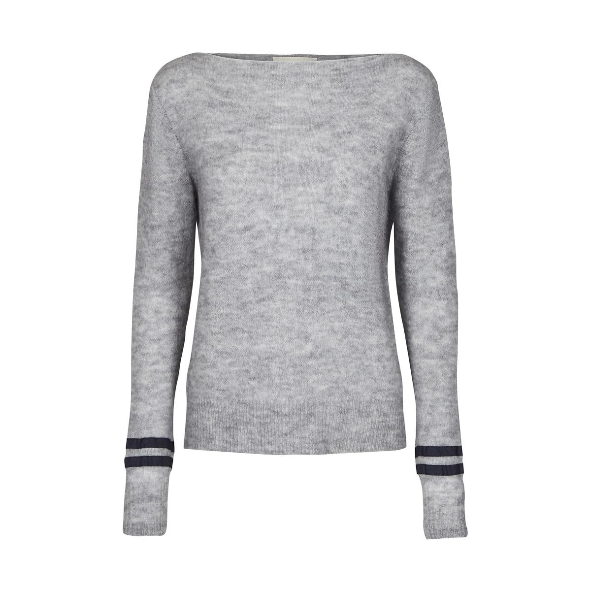 Пуловер с круглым вырезом из тонкого трикотажа от AND LESS