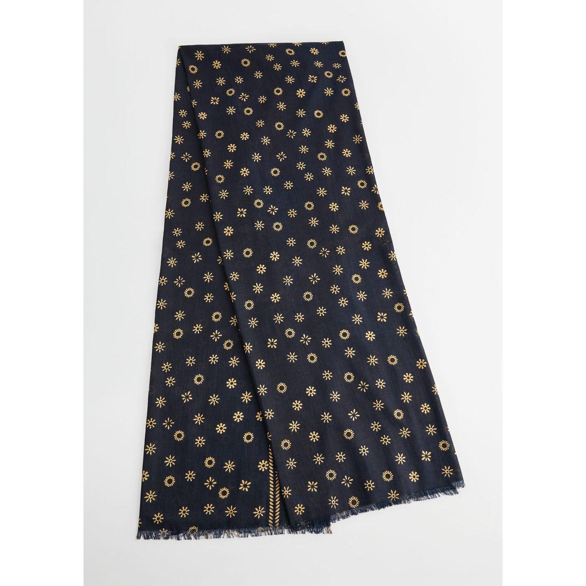 Foulard à fleurs coton