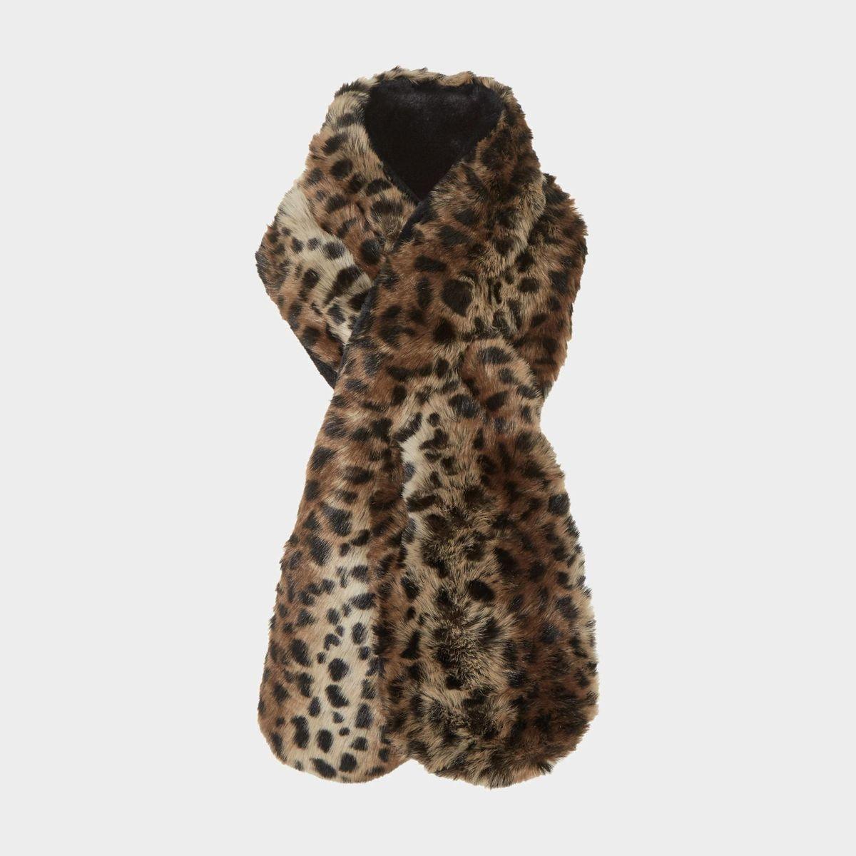 Écharpe en fausse fourrure à imprimé léopard - LEXXY