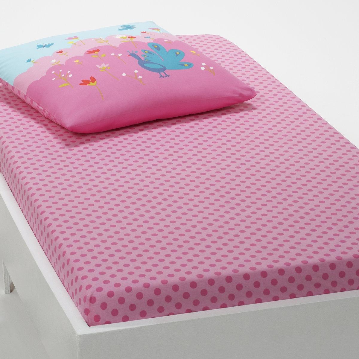 Натяжная простыня для девочек PETITE PRINCESSEХарактеристики детской простыни-наматрасника PETITE PRINCESSE : - Рисунок: розовый горошек на розовом фоне.  - 100% хлопка (57 нитей/см2). Чем больше нитей/см?, тем выше качество ткани.Размер на заказ:  90 x 200 см: 1-сп.<br><br>Цвет: розовый/ синий<br>Размер: 90 x 190  см
