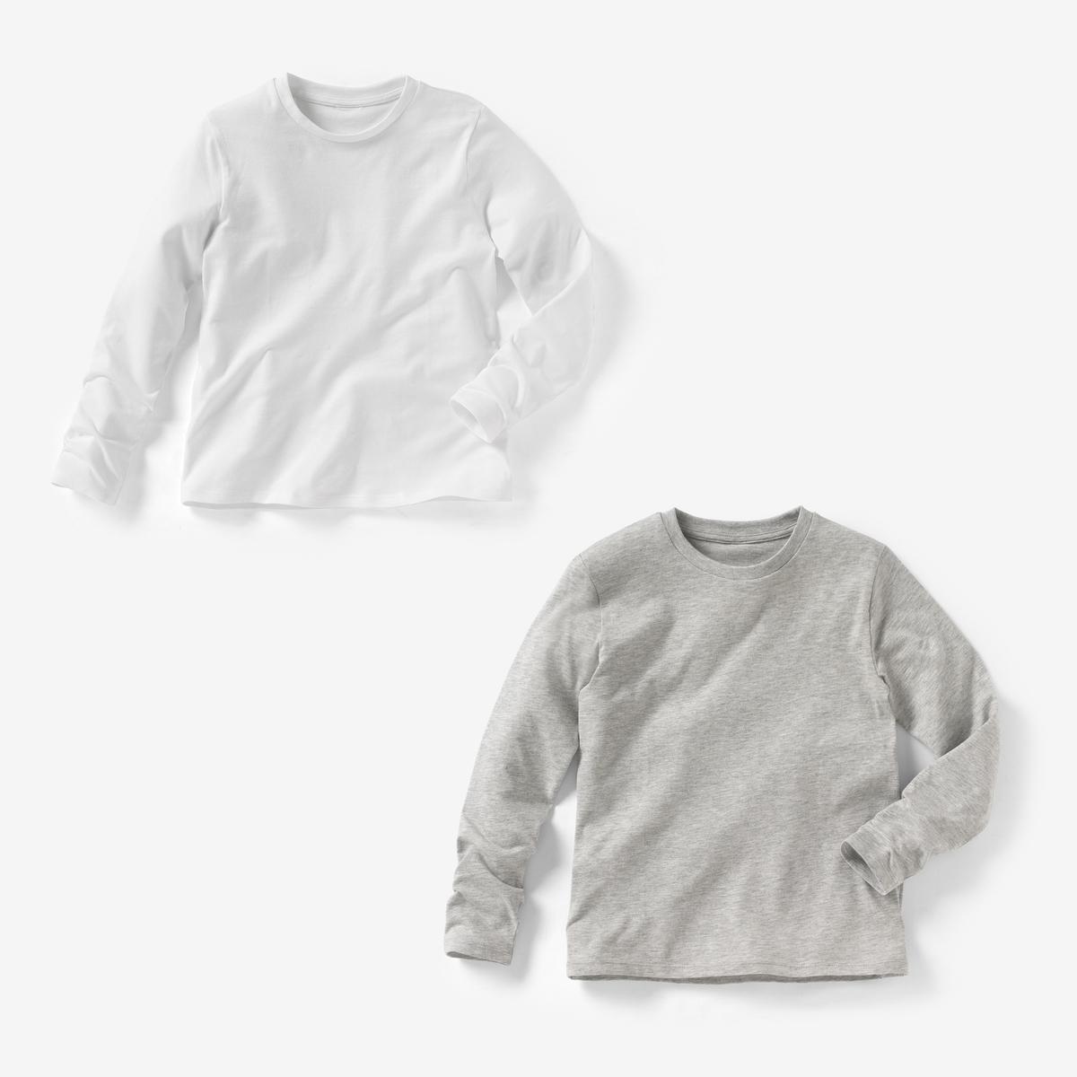 2 футболки однотонные, 3-12 лет t shirt bas bleu футболки однотонные