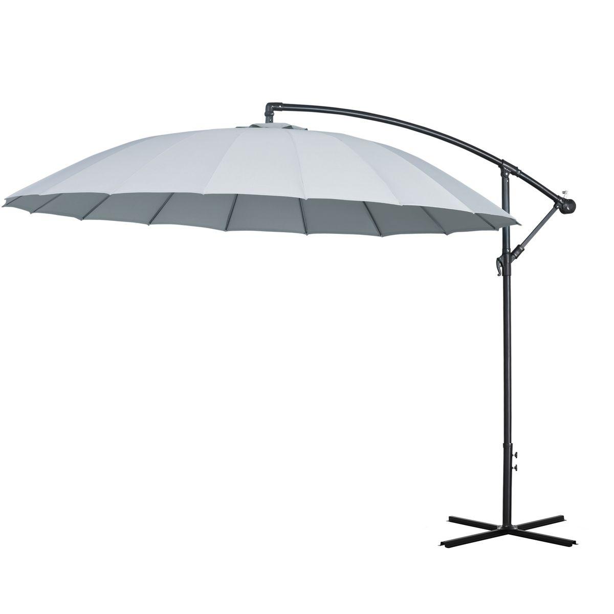 Grand parasol déporté