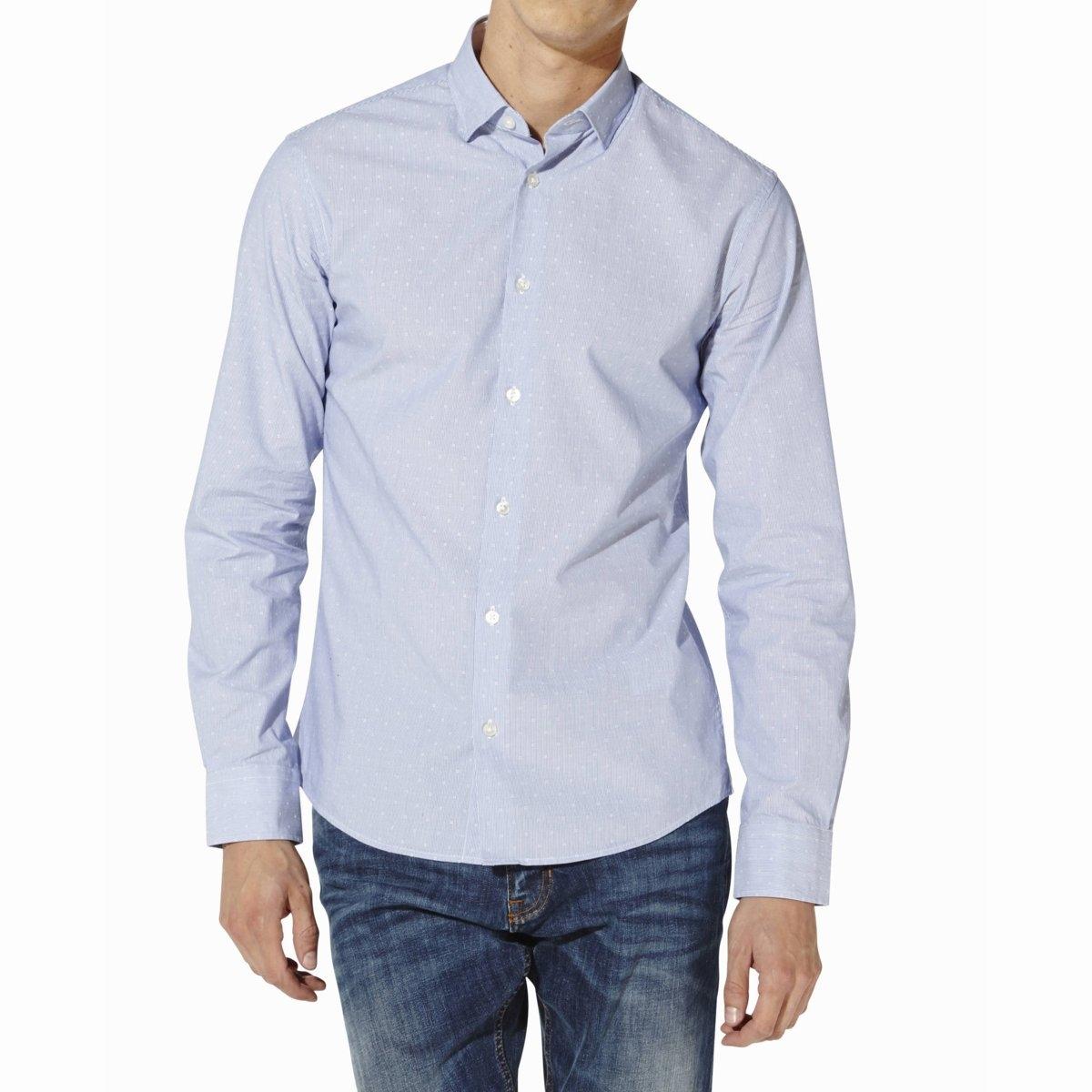Рубашка CAITALIA, 100% хлопкаРубашка CAITALIA - CELIO. С ложным плетёным узором в том же цвете. Длинные рукава. Свободные уголки воротника. Низ рукавов с пуговицами. Закругленный низ. Рубашка, 100% хлопка.<br><br>Цвет: синий<br>Размер: XXL