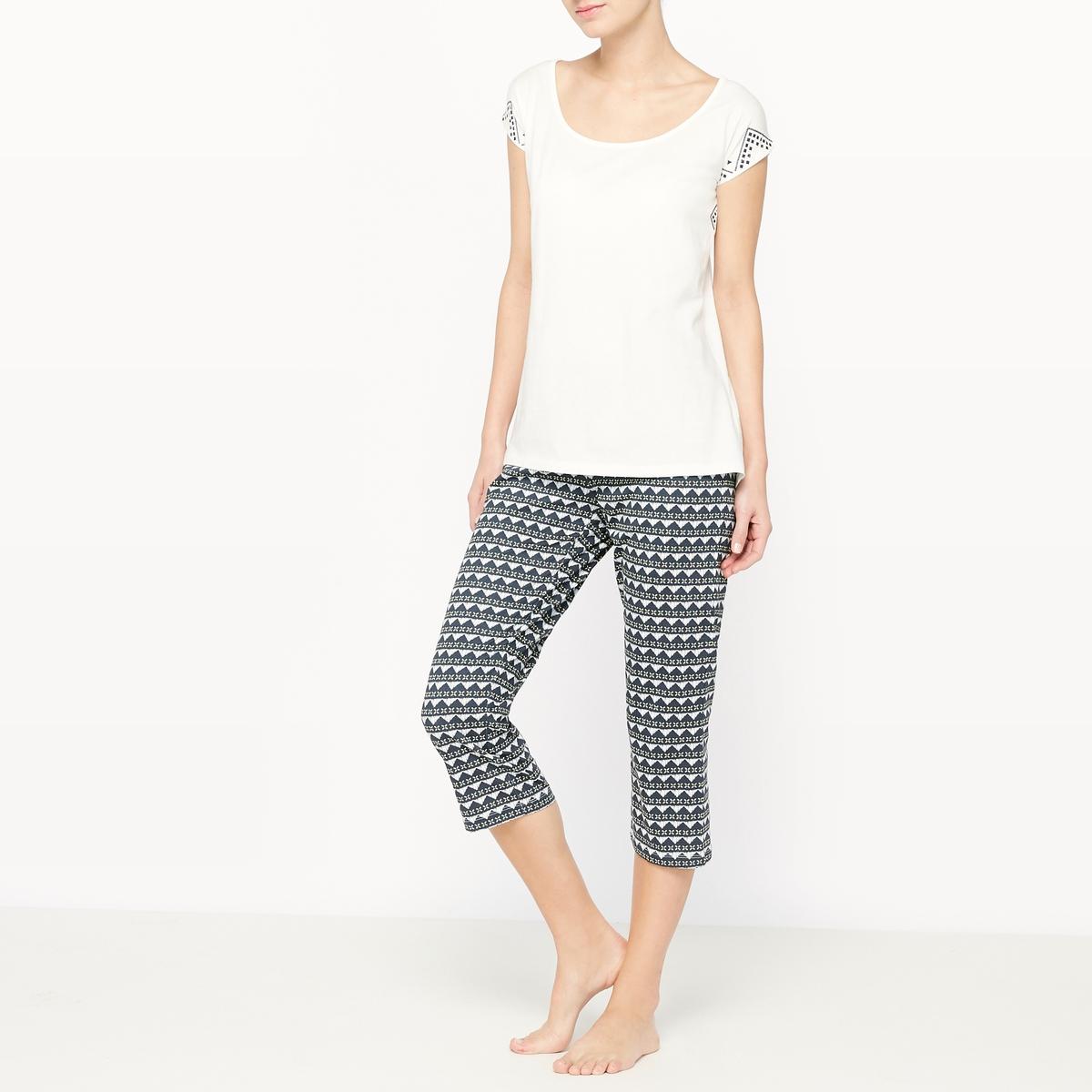 Пижама с короткими брюками с рисунком из 2 предметов