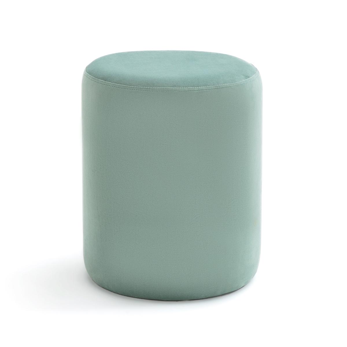 Пуф LaRedoute Велюровый LUXORE единый размер зеленый