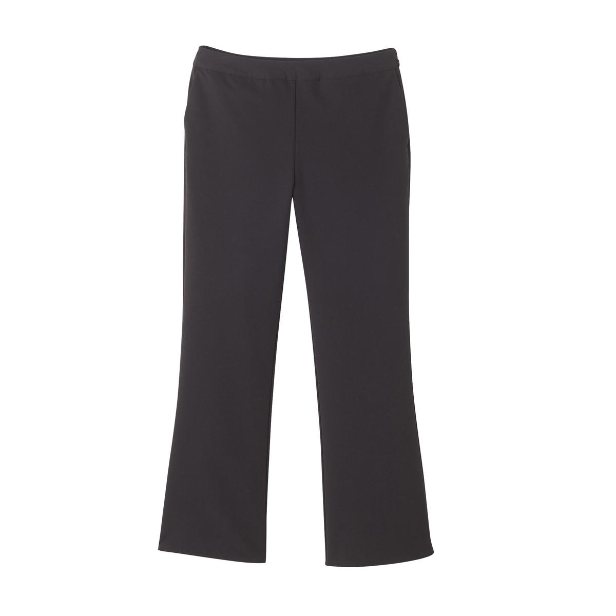 Укороченные черные брюки из полиэстера