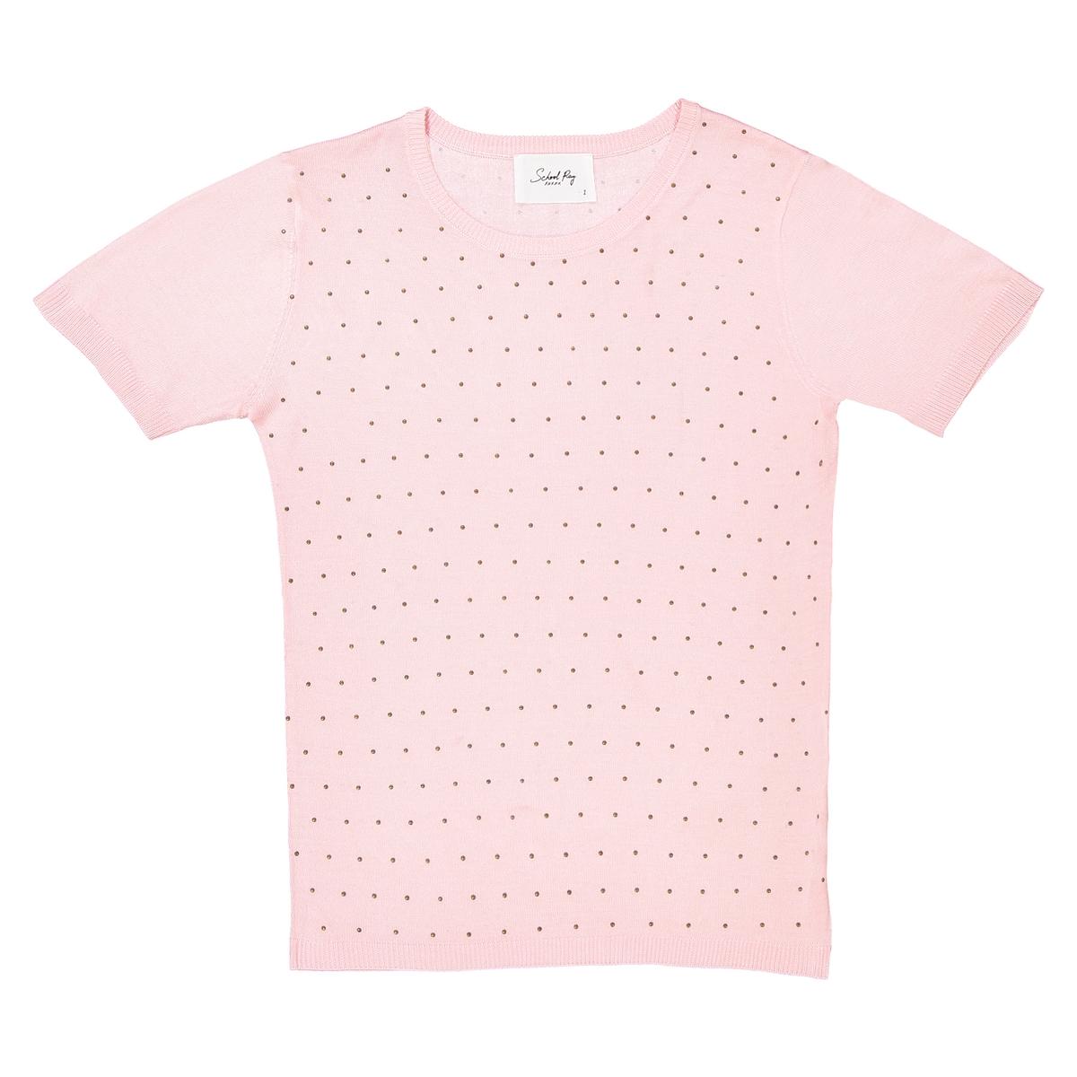 Пуловер La Redoute С круглым вырезом из тонкого трикотажа S розовый
