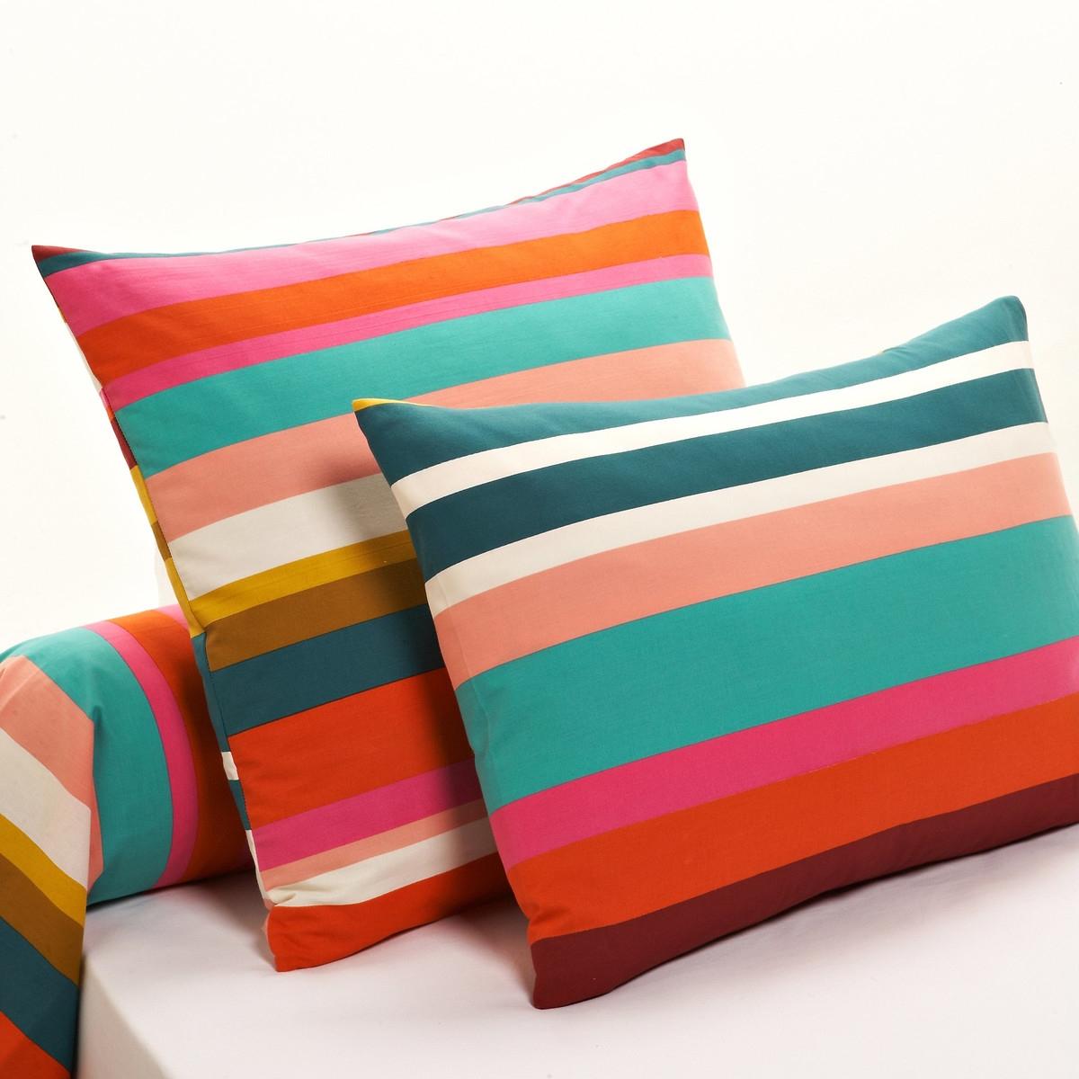 Paraiso Striped Cotton Pillowcase