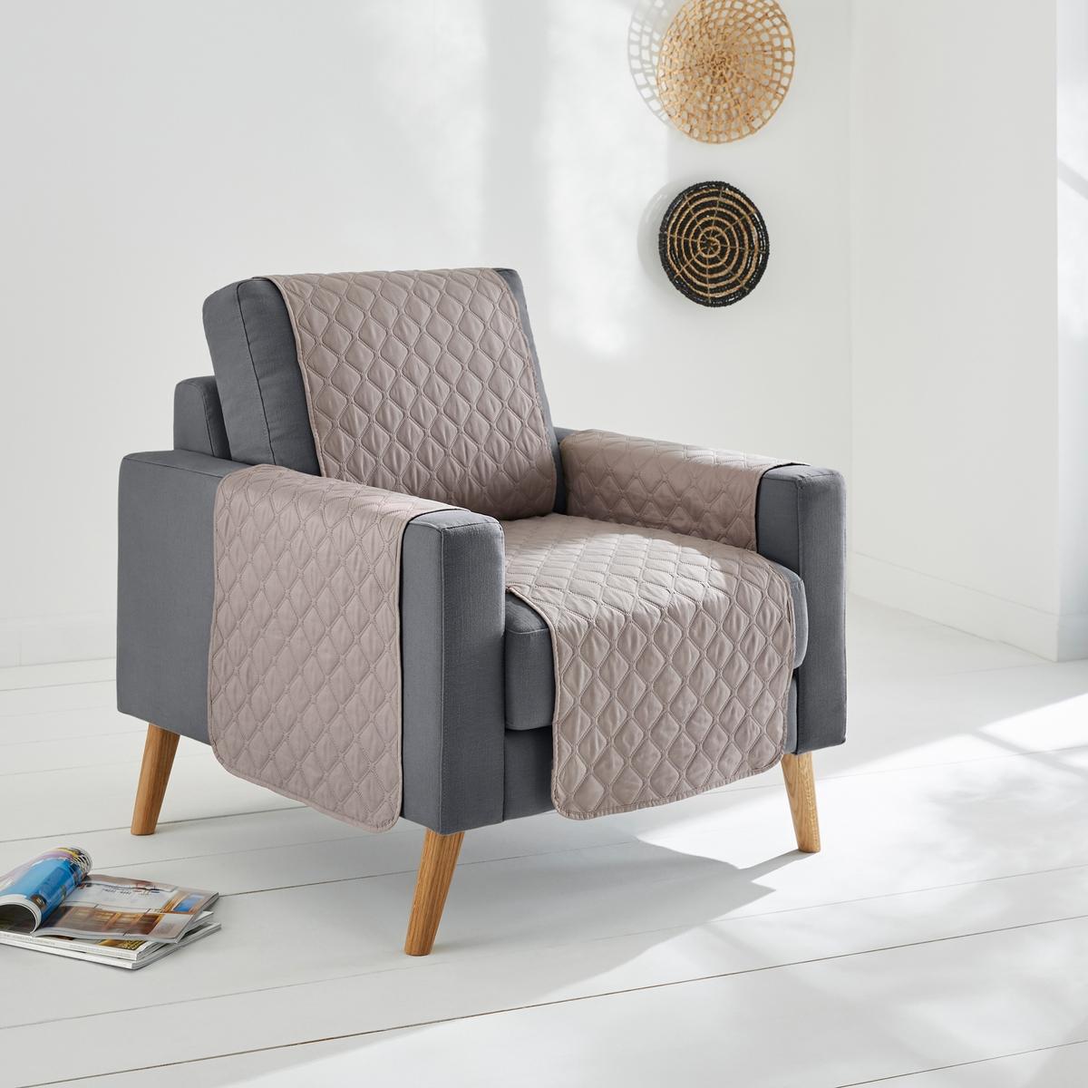 Чехол La Redoute Защитный для кресла или дивана Oralda 3 местн. каштановый чехол la redoute эластичный для кресла и дивана ahmis 3 местн белый