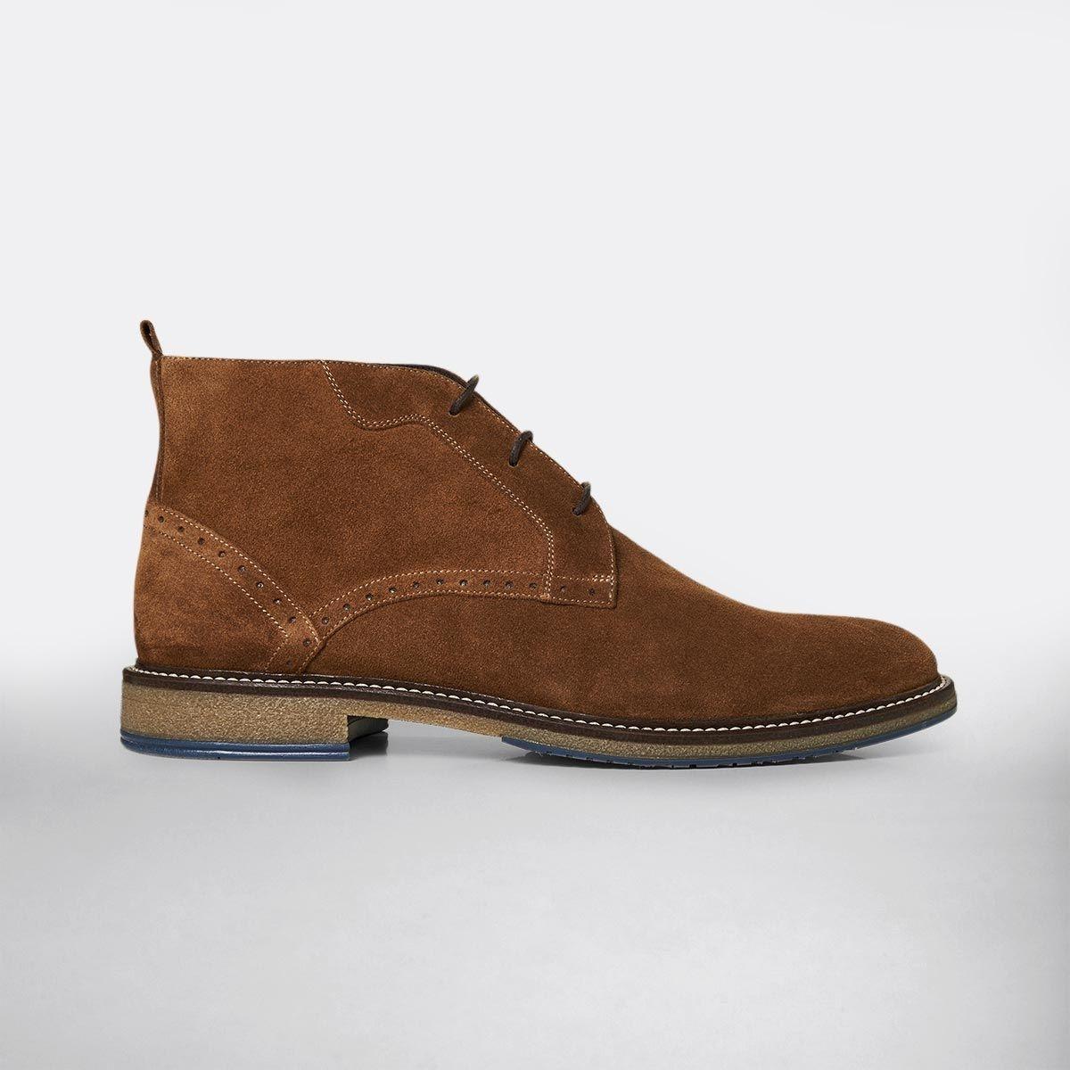 Boots en croûte de cuir Made in Europe