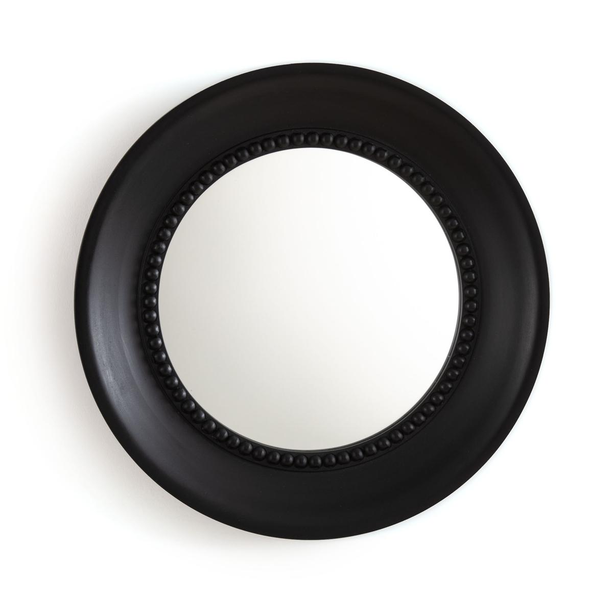 Зеркало La Redoute Круглое золотистого цвета с эффектом под старину AFSAN единый размер черный зеркало la redoute afsan из массива мангового дерева единый размер черный