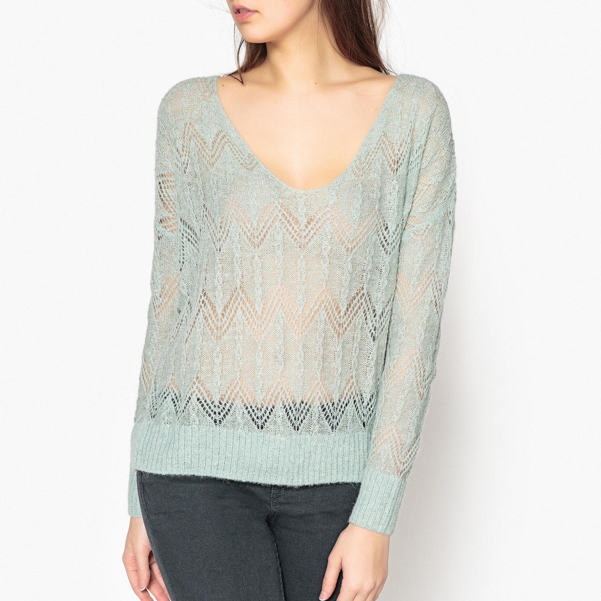 Пуловер свободного кроя с V-образным вырезом NOPALES от LEON and HARPER