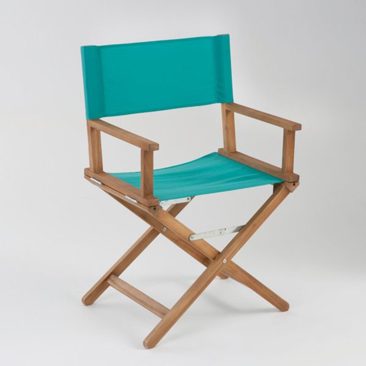 Кресло кинорежиссераВ саду и дома, режиссерское кресло производит сильное впечатление. Характеристики кресла :Из акации с масляной пропиткой. - Покрытие  100% полиэстера .- Полностью складное .Поставляется  собранным, в сложенном виде .Размеры :- Общие: L56/57,5 x H88 x P43 см. Это кресло кинорежиссера для экстерьера может быть доставлено (без доплаты), если необходимо, до вашей квартиры.Вы можете обменять или вернуть кресло в течение 15 дней, предварительно оговорив это при покупке.<br><br>Цвет: в полоску разноцветный,изумрудный,коралловый/ розовый