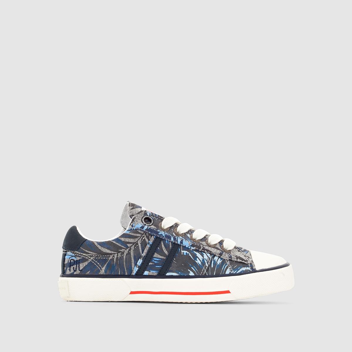 Кеды низкие Pepe Jeans SERTHI FLOWERSКеды низкие с рисунком, на шнуровке, SERTHI FLOWERS от Pepe Jeans. Верх : текстильПодкладка : текстильСтелька : текстильПодошва : резина Застежка : на шнуровке                Начиная с 70-х годов, Pepe Jeans использует деним, поношенную одежду, уличный стиль для создания коллекции модной и неконсервативной обуви в английском стиле! Все преимущества марки - в этой модели с отличным классическим рисунком, которая вызывает стремление к переменам !<br><br>Цвет: рисунок/серый