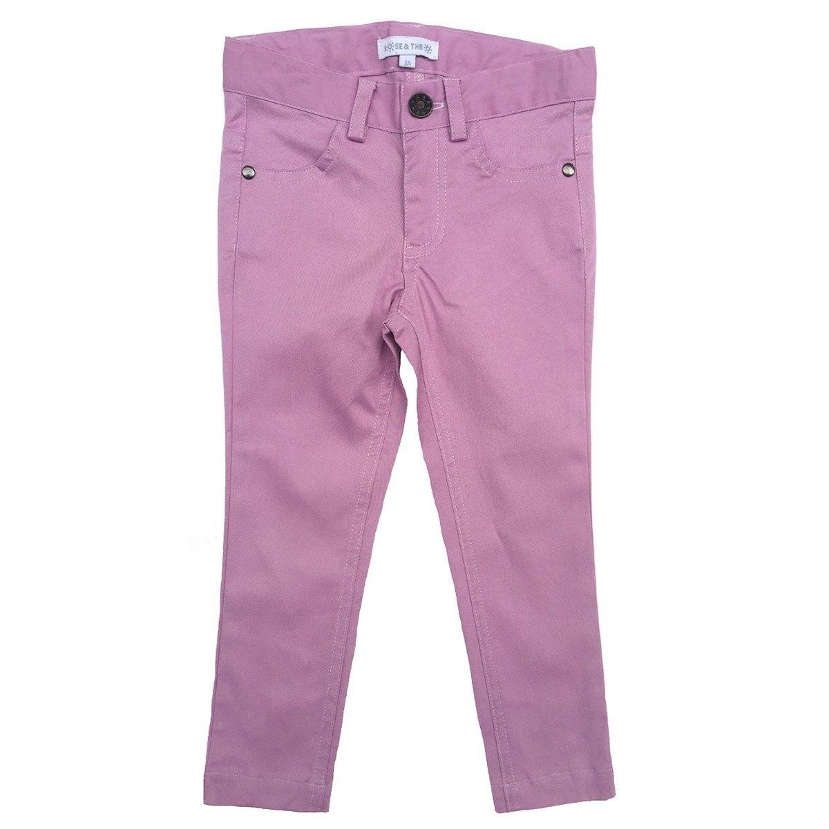 Pantalon slim en toile de coton