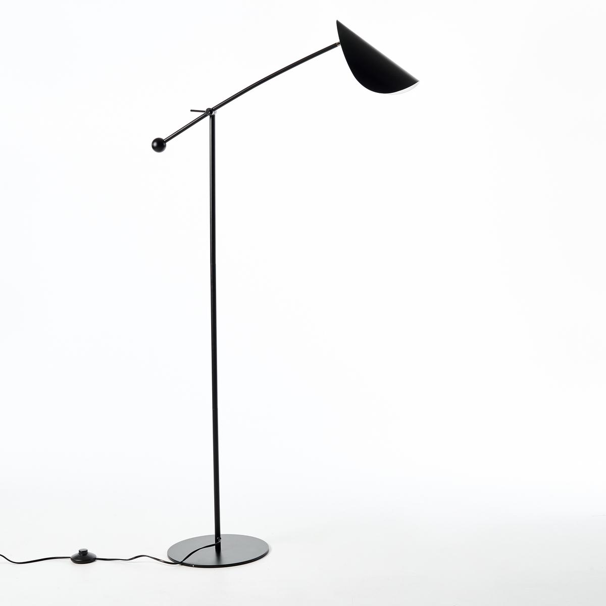 Напольная лампа FunambuleНапольная лампа Funambule. Тонкая и воздушная форма, вдохновленная движущимися объектами и природой, поворачивающийся абажур в форме листа. Напольная лампа для направленного освещения, идеально подходит для чтения.Характеристики :Из металла с матовым эпоксидным покрытием- Цоколь E14 для флуоресцентных ламп макс. 8 Вт (продаются отдельно)- Совместима с лампами класса энергопотребления A Размеры :- 77 x 123 см- Основание ?28 см<br><br>Цвет: черный