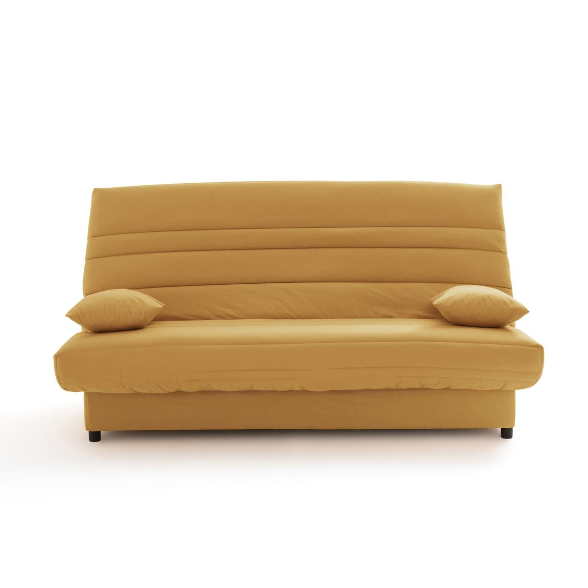 цена Чехол La Redoute Натяжной для дивана-книжки и складной тумбы усовершенствованная модель 130 x 190 см желтый онлайн в 2017 году