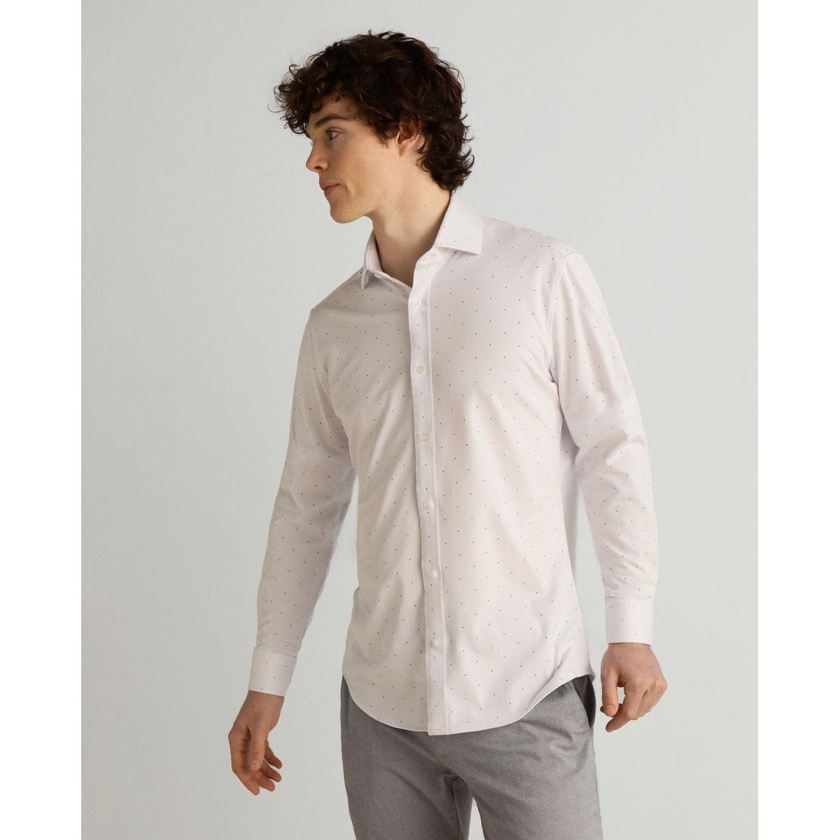 Chemise slim habillée en maille