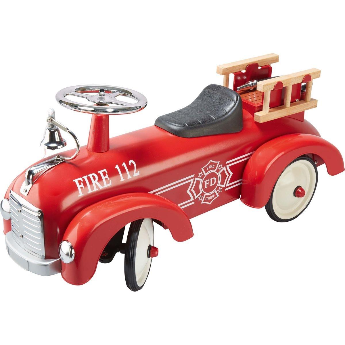 Porteur Pompiers Rouge et argent GOKI