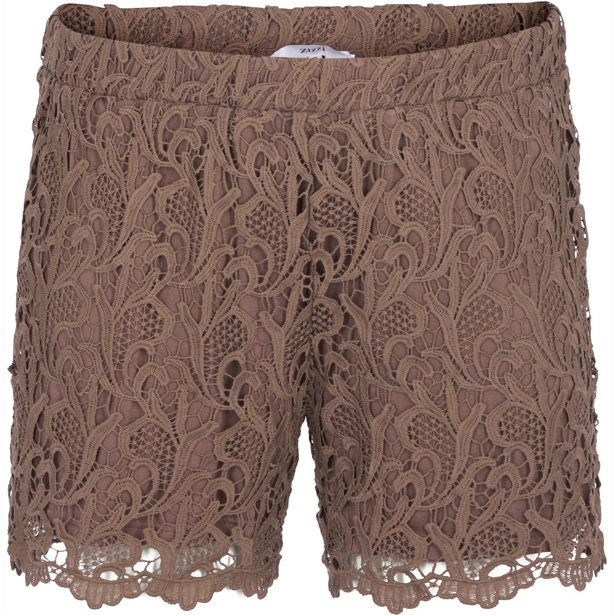 ШортыШорты ZIZZI. Красивые кружевные шорты. Свободный и комфортный покрой, эластичный пояс. 100% полиэстер<br><br>Цвет: темно-бежевый<br>Размер: 46/48 (FR) - 52/54 (RUS)