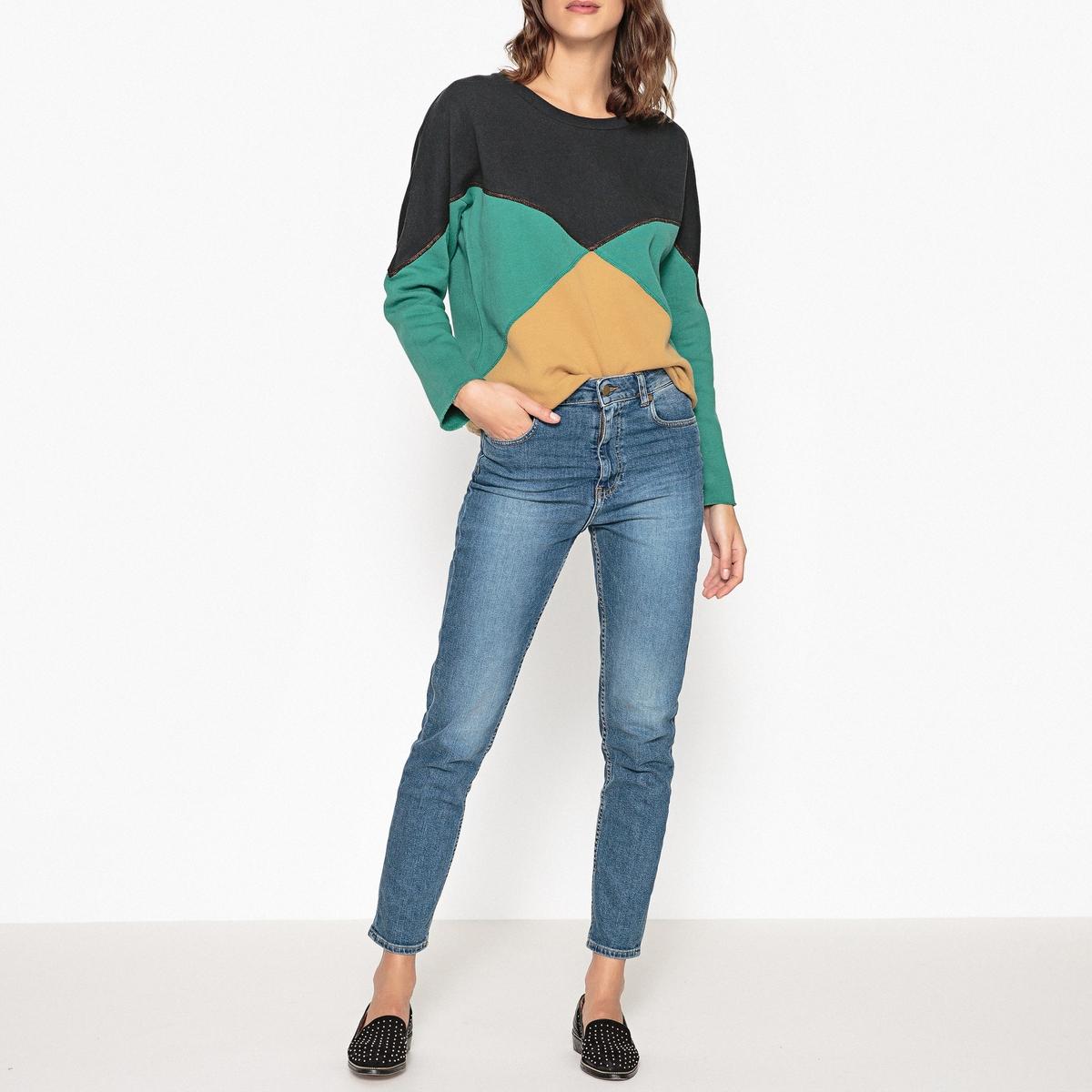 Sweat multicolore SWIMAСвитшот с длинными рукавами LEON AND HARPER - модель SWIMA с необработанными краями рукавов.Детали •  Длинные рукава •  Без застежки •  Круглый вырезСостав и уход •  100% хлопок  •  Следуйте советам по уходу, указанным на этикетке<br><br>Цвет: темно-синий/зеленый