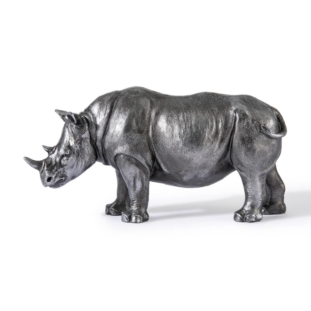 Статуэтка LaRedoute Носорога Kami единый размер серебристый