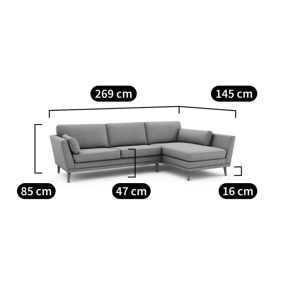 Canapé d'angle Tissu Scandinave Confort