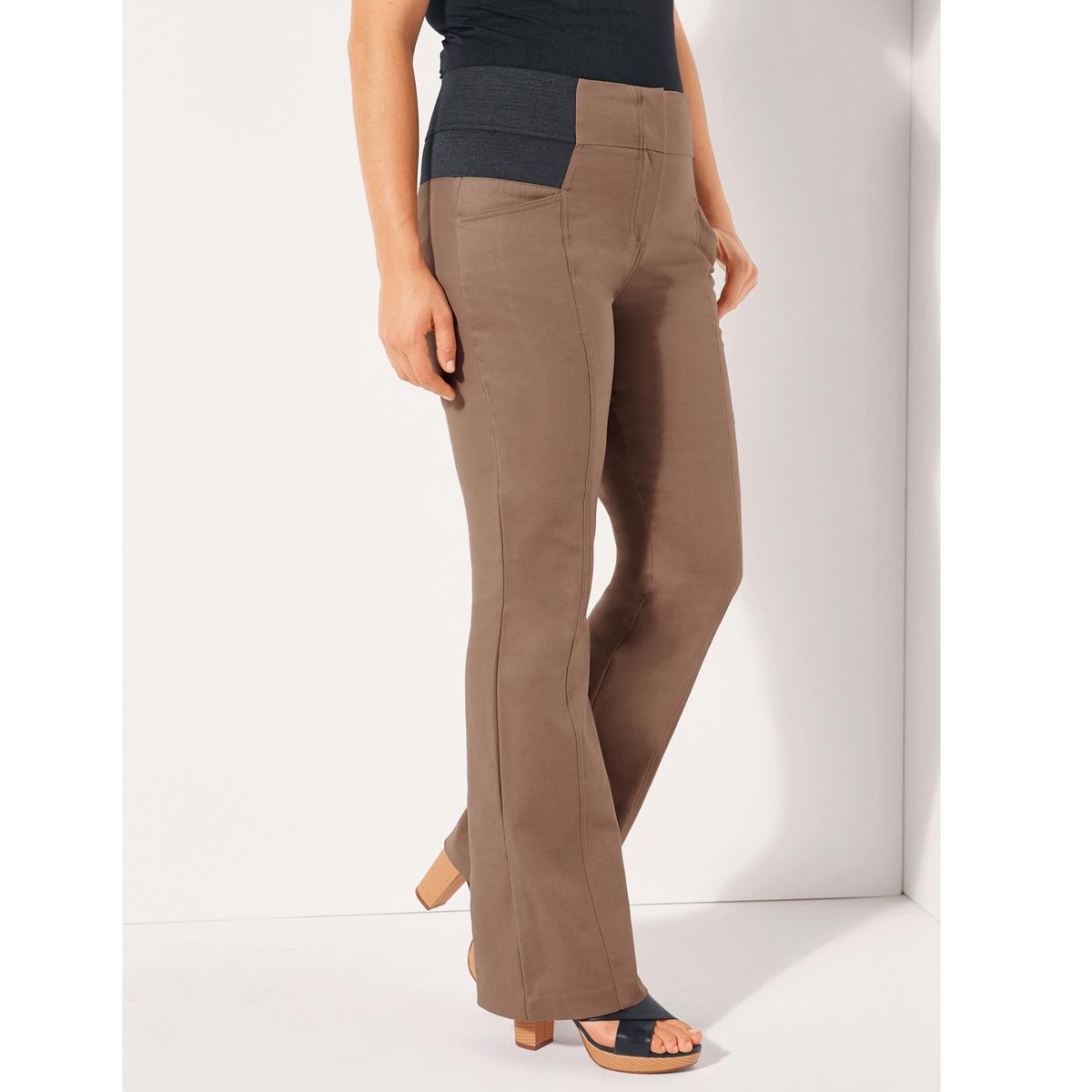 Брюки буткатТовар из коллекции больших размеров. Приятный материал, комфортный пояс… брюки, совершенствующие ваш силуэт! Еще более облегающий, комфортный и тянущийся материал, 97% хлопка и 3% эластана. Брюки не мнутся и прекрасно сидят. Высокий ультракомфортный пояс с 2 большими эластичными вставками по бокам моделирует силуэт и обеспечивает прекрасную посадку брюк. Застежка на молнию и крючок. Карманы спереди. Хитрость: швы спереди стройнят ноги! Длина по внутр.шву 78 см, ширина по низу 25 см. См.таблицу размеров Taillissime.<br><br>Цвет: синий морской,черный<br>Размер: 50 (FR) - 56 (RUS).46 (FR) - 52 (RUS).52 (FR) - 58 (RUS).62 (FR) - 68 (RUS).44 (FR) - 50 (RUS).42 (FR) - 48 (RUS).56 (FR) - 62 (RUS).52 (FR) - 58 (RUS).62 (FR) - 68 (RUS).44 (FR) - 50 (RUS).56 (FR) - 62 (RUS).58 (FR) - 64 (RUS)