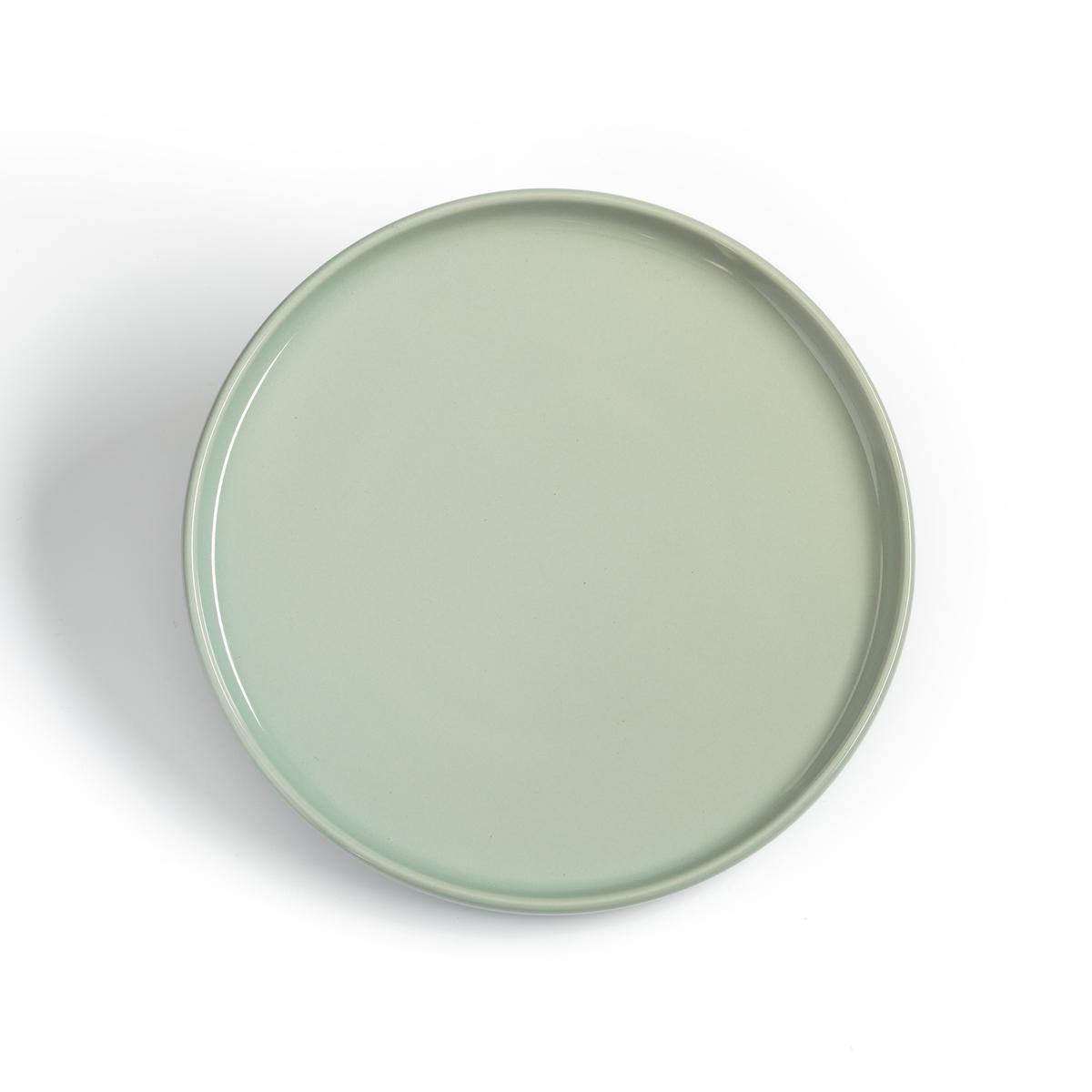 4 тарелки LaRedoute Десертные керамические ELINOR единый размер зеленый