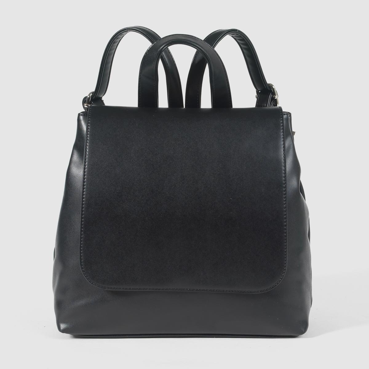 РюкзакПреимущества : очень практичный и красивый рюкзак на пике модных тенденций. Незаменим для  жизни в городе!<br><br>Цвет: черный<br>Размер: единый размер