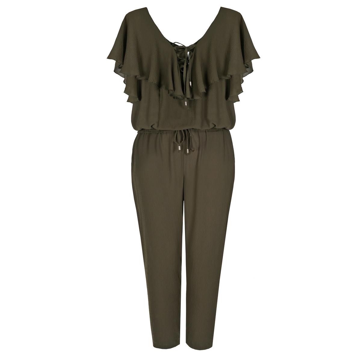 Комбинезон с брюками<br><br>Цвет: хаки<br>Размер: 44/46 (FR) - 50/52 (RUS)