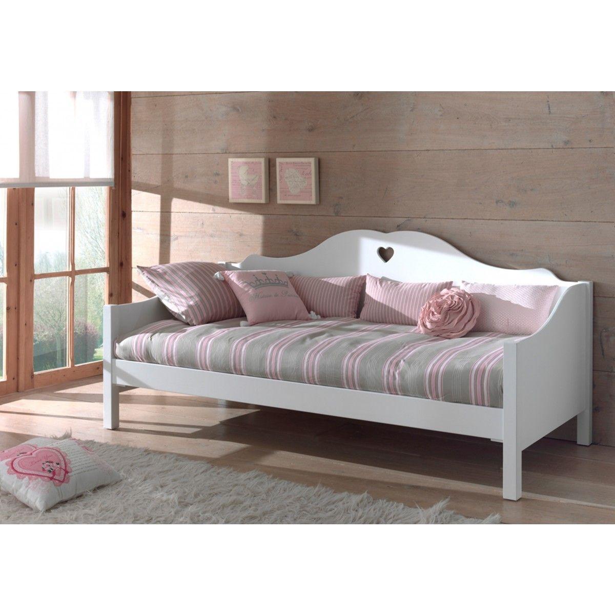 Lit canapé enfant bois blanc LC2001