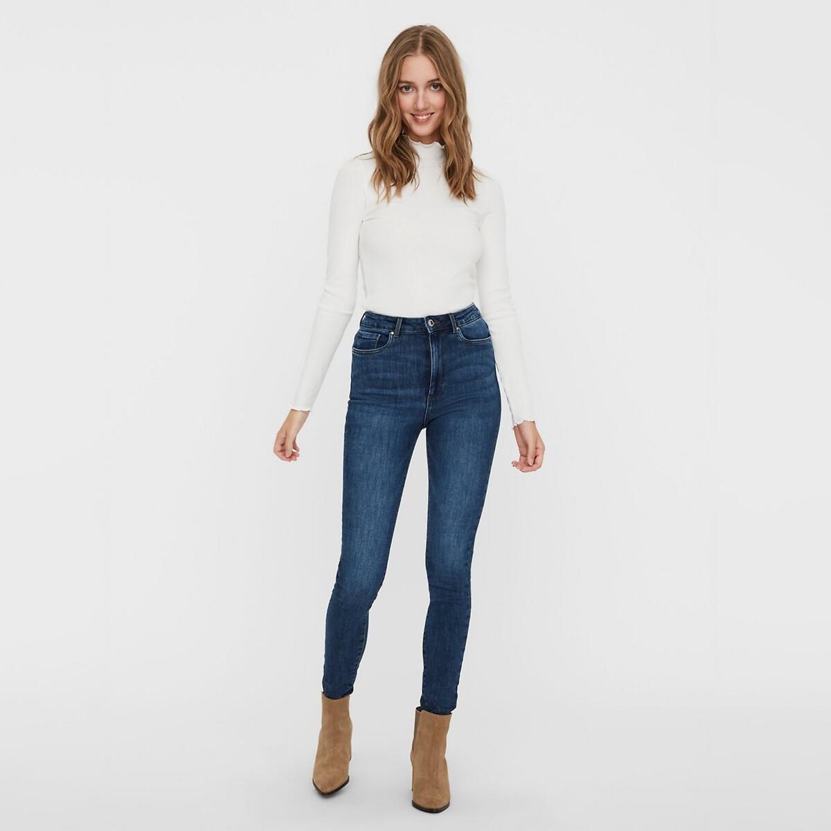 Фото - Джинсы-скинни LaRedoute Высокая талия длина 32 S синий джинсы laredoute скинни длина 30 s черный