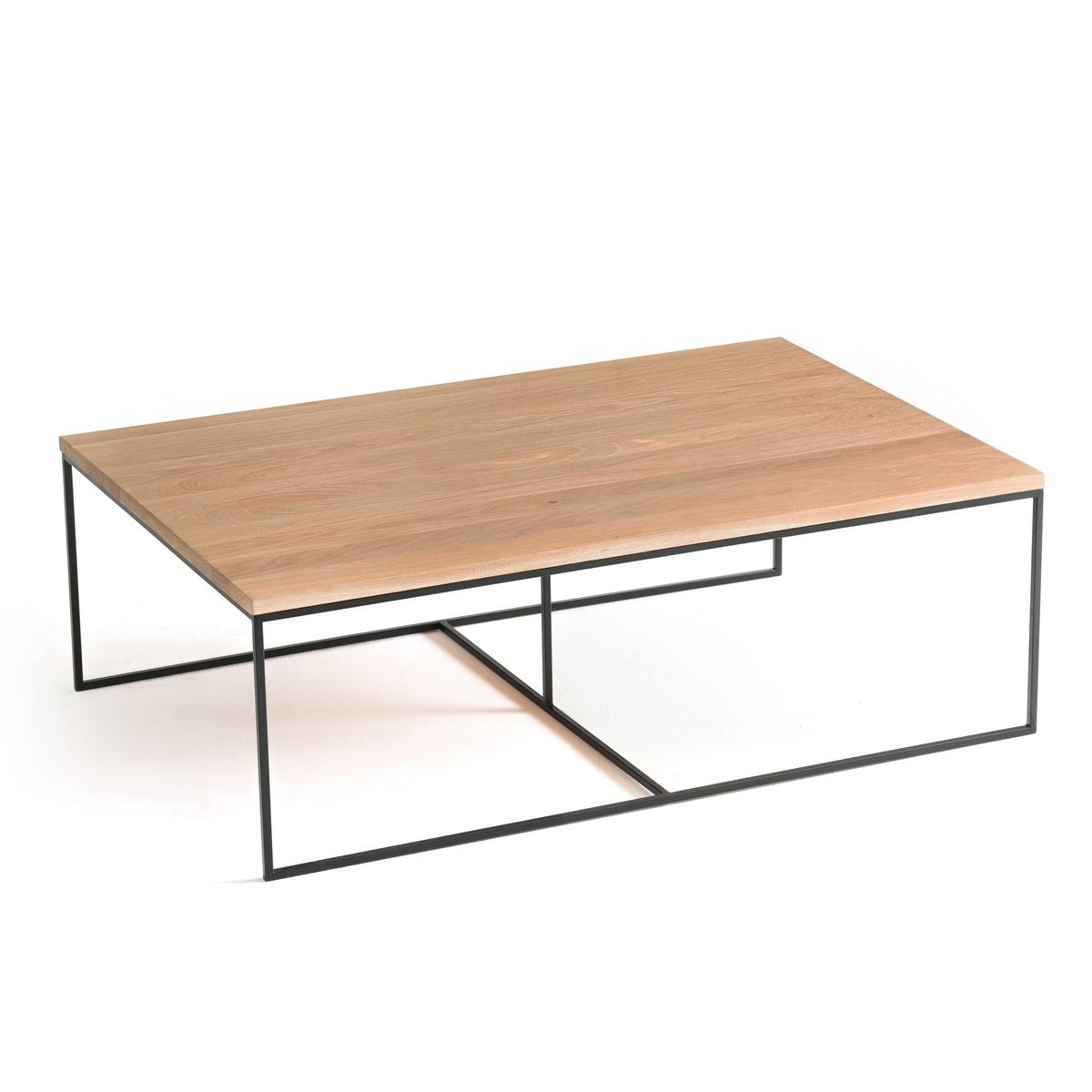 Стол LaRedoute Журнальный из дуба Auralda большой размер единый размер каштановый столик laredoute журнальный из дуба покрытого олифой adelita единый размер каштановый