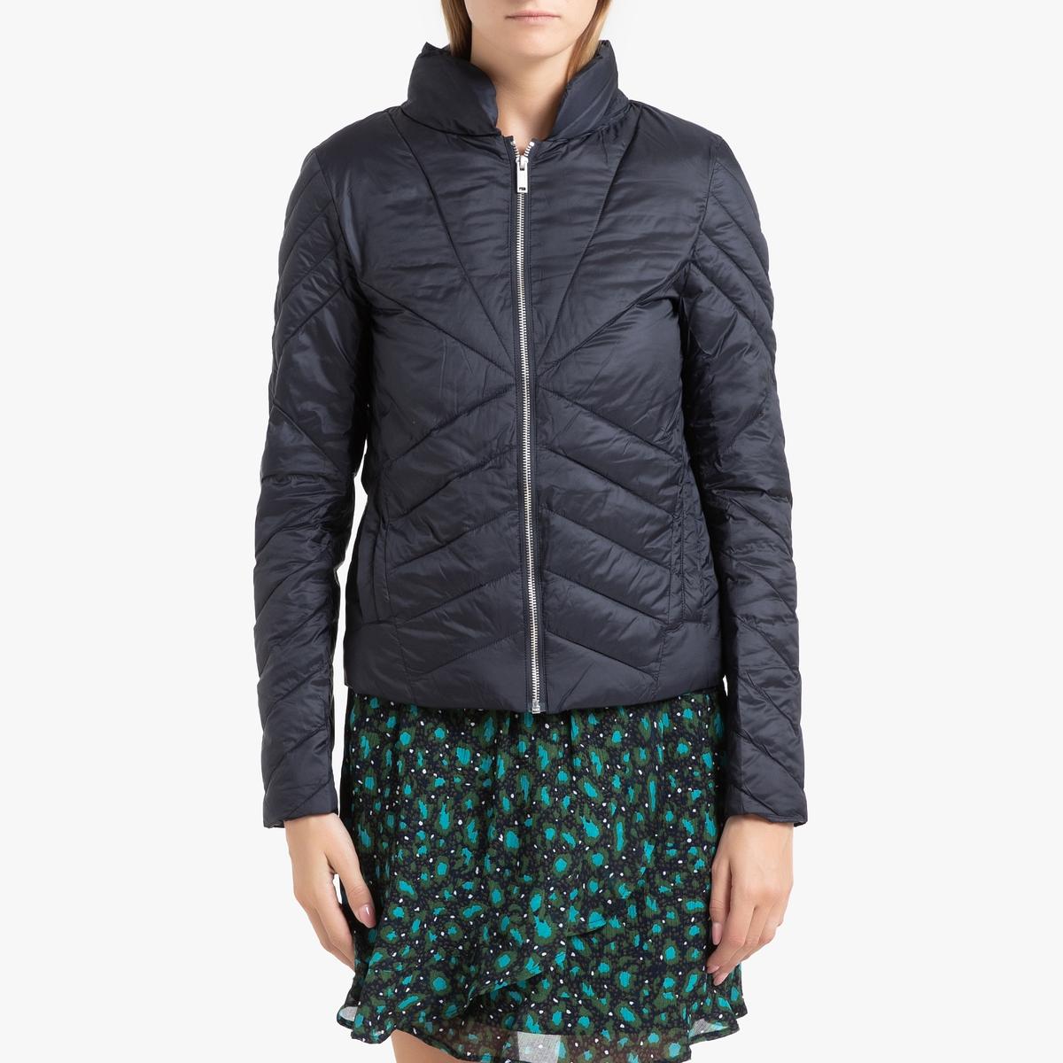 Куртка La Redoute Стеганая короткая на молнии M синий
