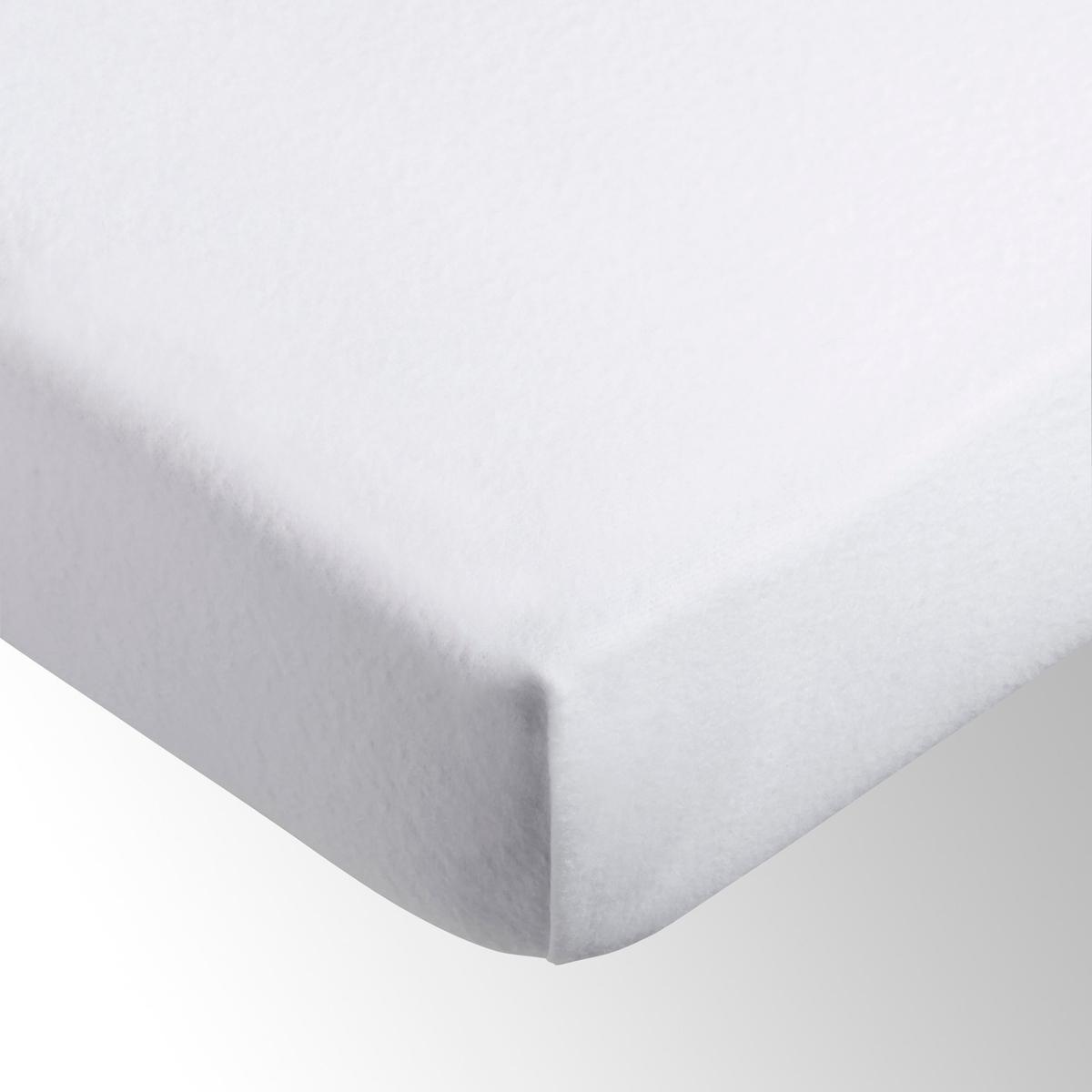 цена на Чехол La Redoute Защитный для матраса натяжной из эластичной микрофибры 180 x 200 см белый