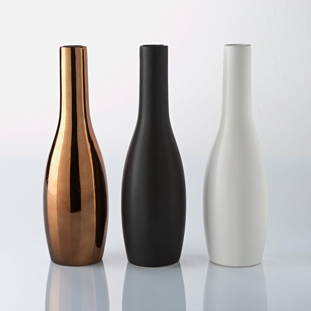 Комплект из 3 декоративных бутылок, Terna3 декоративные бутылки для украшения Вашего дома !   Характеристики 3 декоративных бутылок :выполнены из крашеной керамикиРазмеры 3 декоративных бутылок : 8 x 8 x 26 см<br><br>Цвет: разноцветный<br>Размер: единый размер