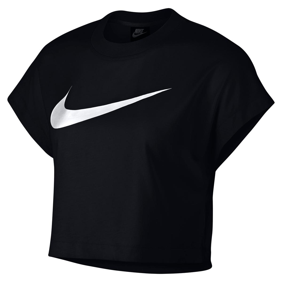 Camiseta con corte corto y logotipo en el pecho