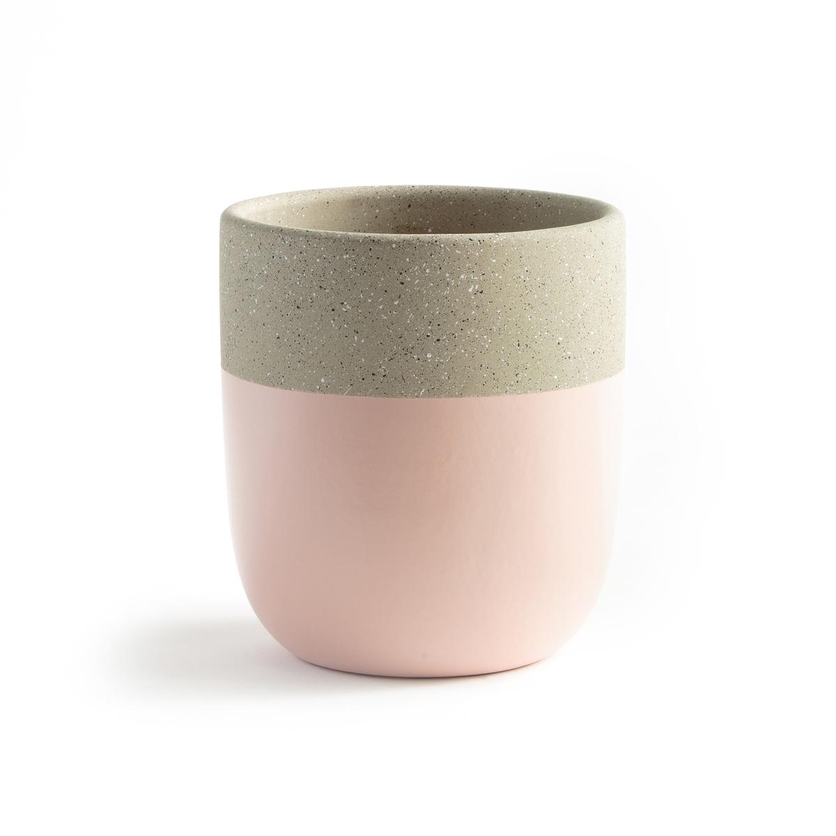 Кашпо La Redoute Из керамики двухцветный Kera единый размер розовый