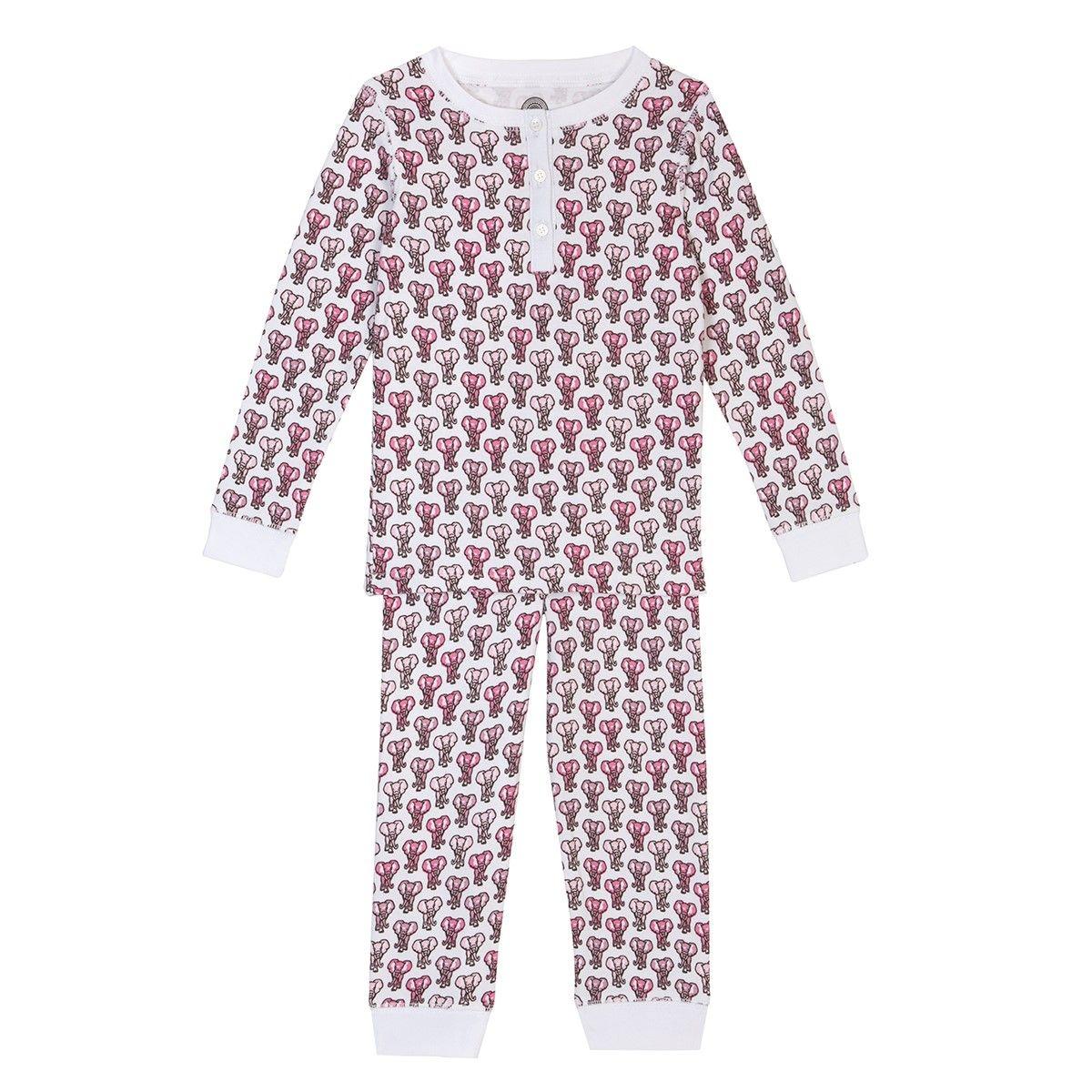 Pyjama fille en coton bio - Imprimé Eléphant