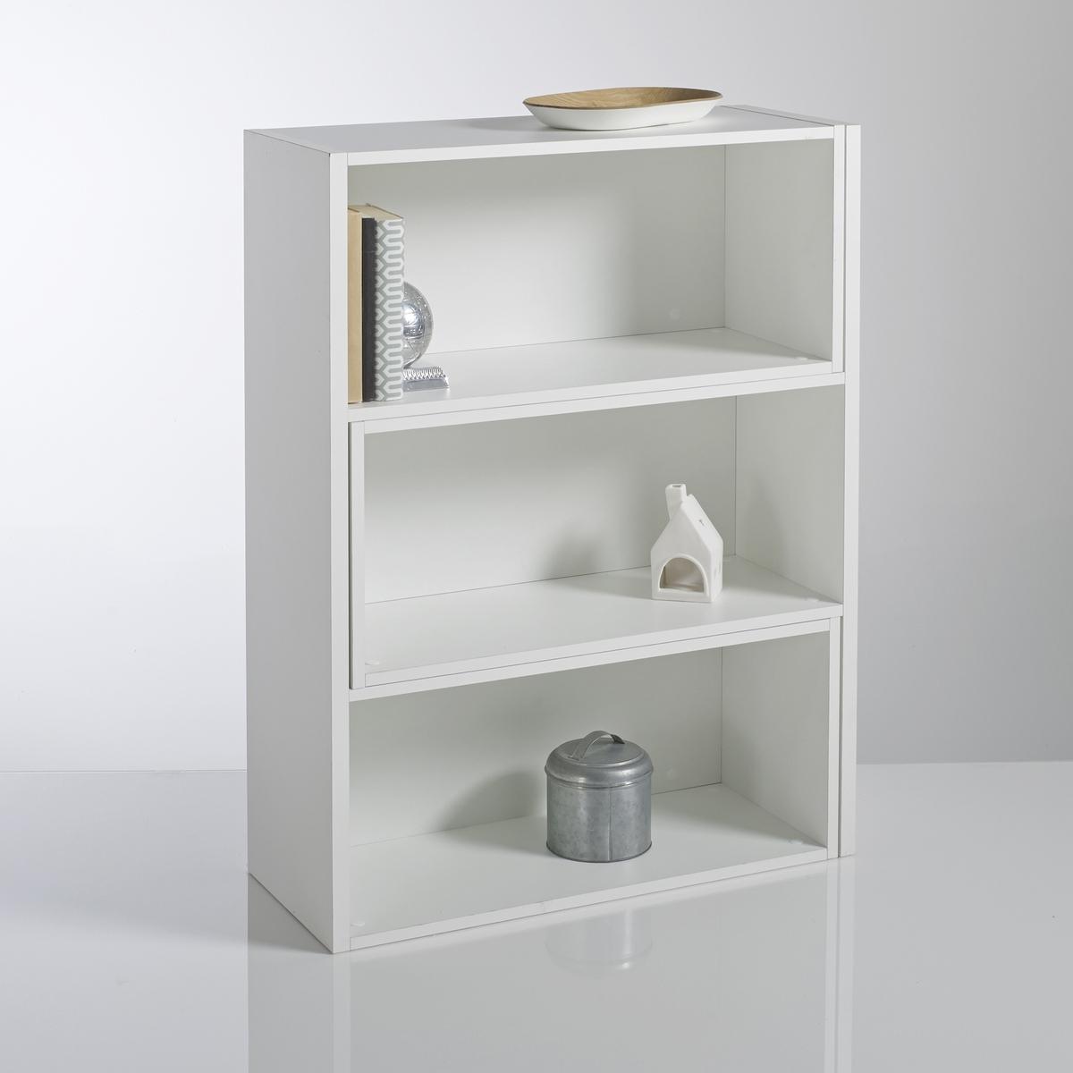Шкаф LaRedoute Книжный высота 1 метр Everett единый размер белый