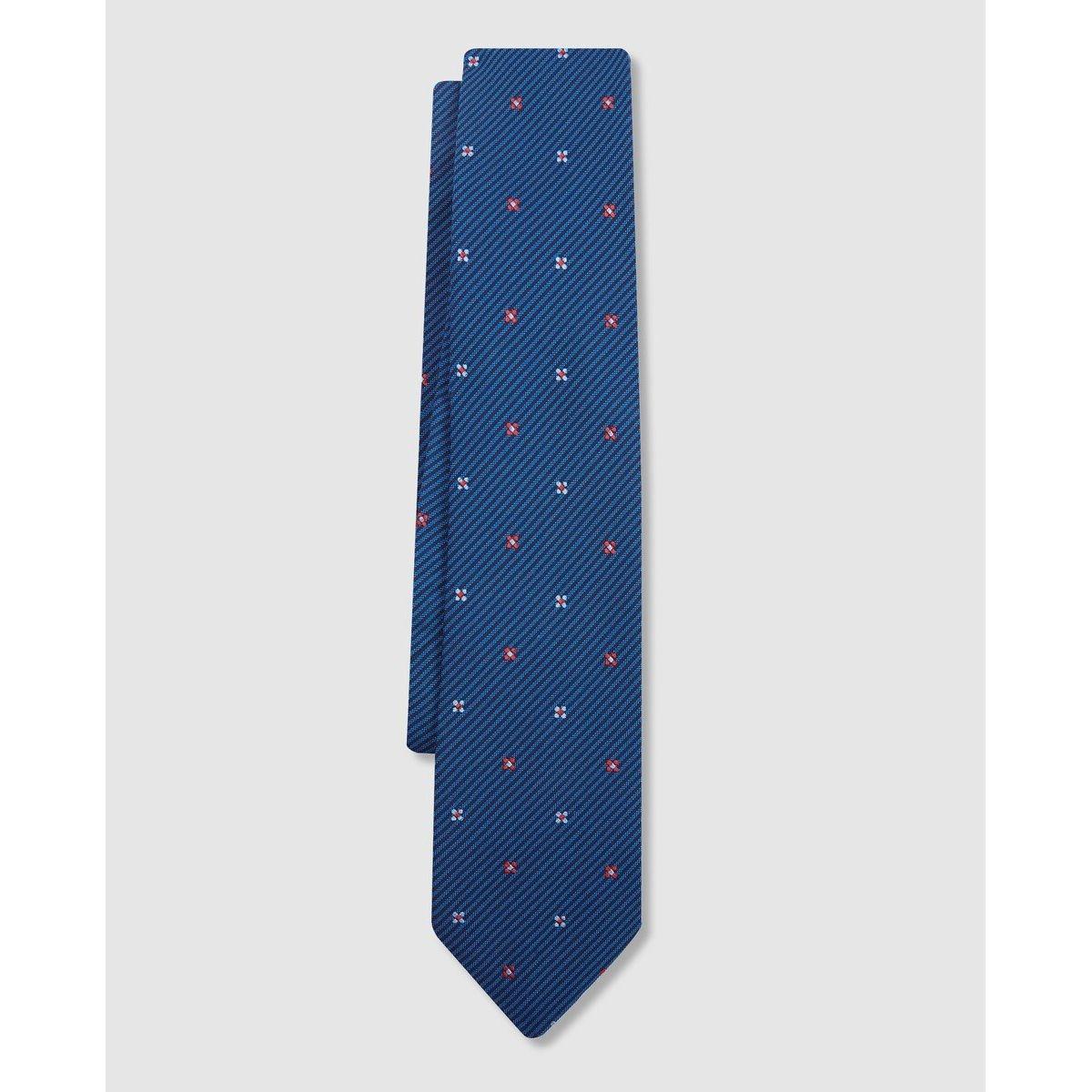 Cravate en soie imprimé minifleur