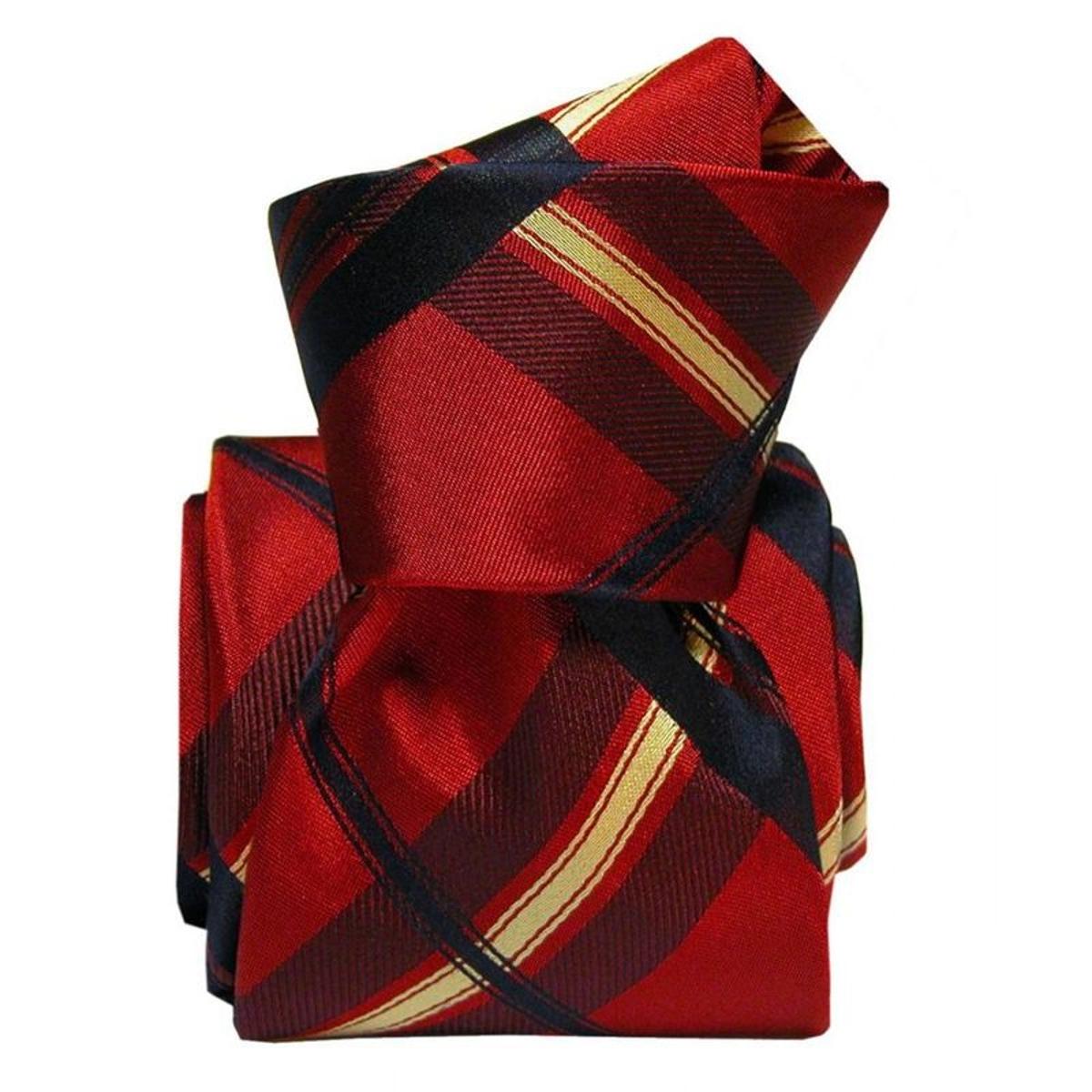 Cravate luxe Rimini. Soie carreaux