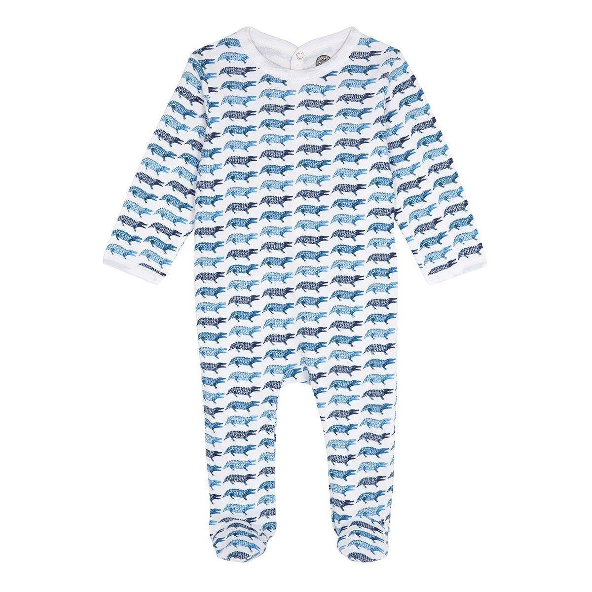 Pyjama bébé en coton bio - Imprimé Crocodile