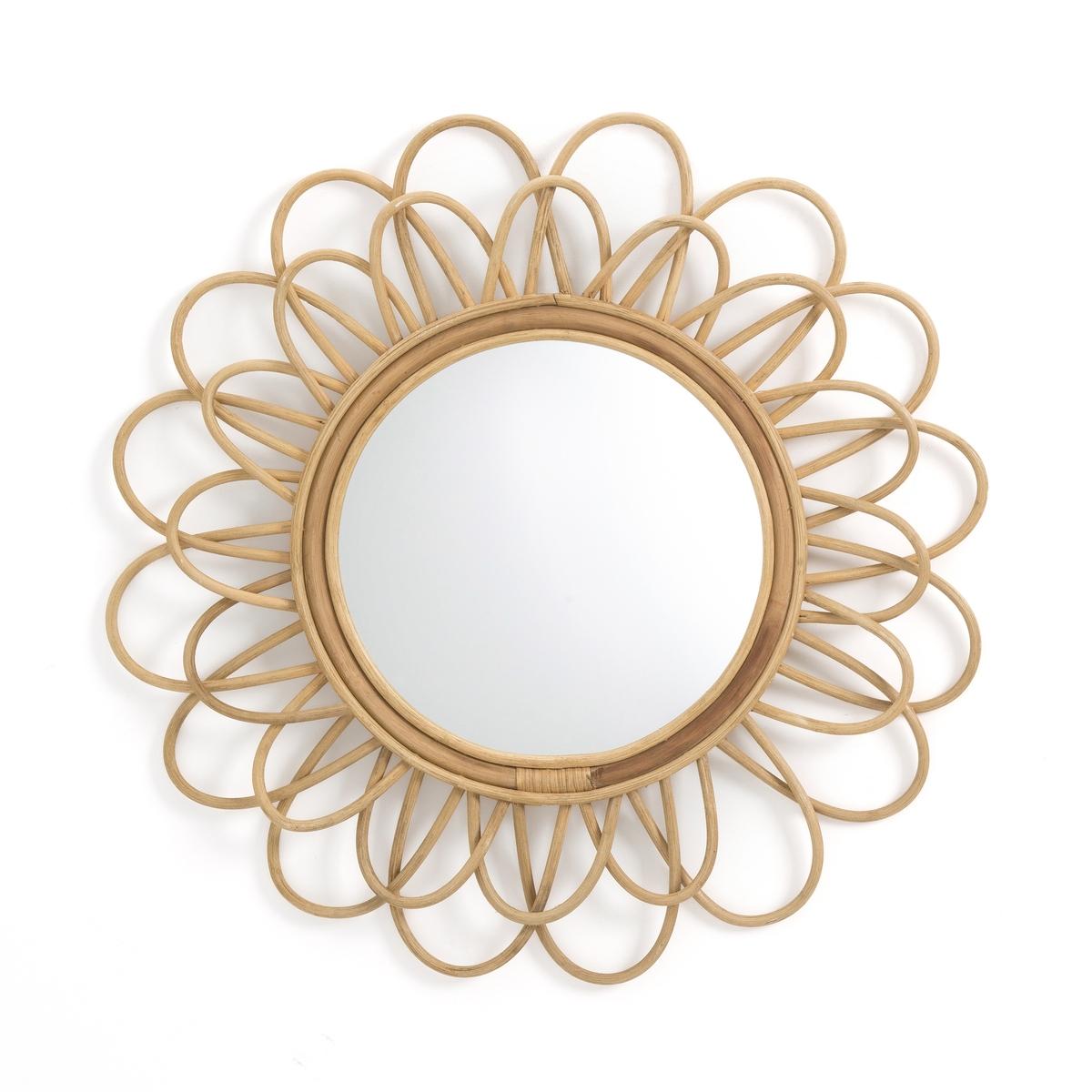 Зеркало La Redoute Из ротанга в форме двойного цветка см Nogu единый размер бежевый зеркало la redoute квадратное из ротанга ш x в см tarsile единый размер бежевый