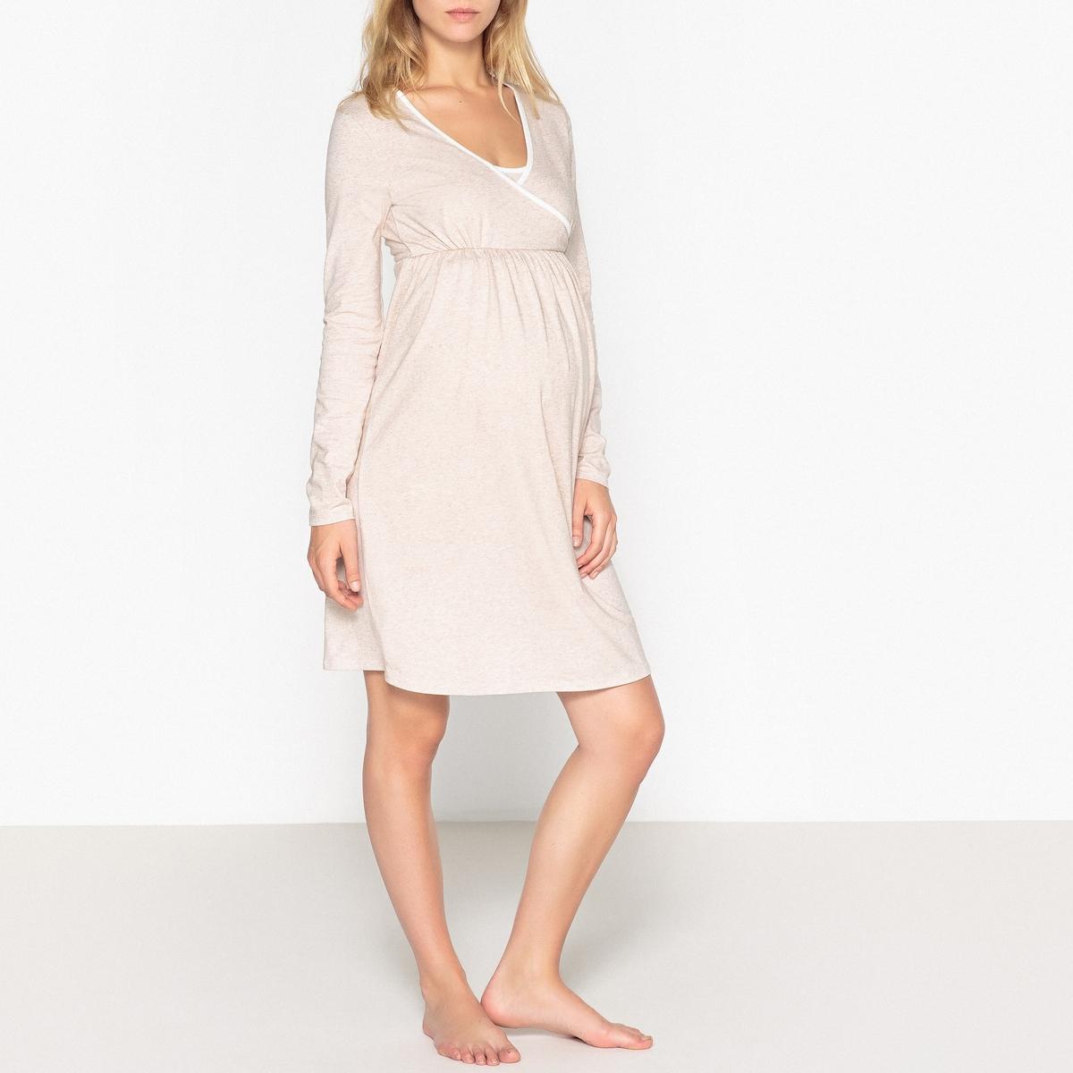 Рубашка ночная для периода беременности и грудного вскармливания La Redoute Collections