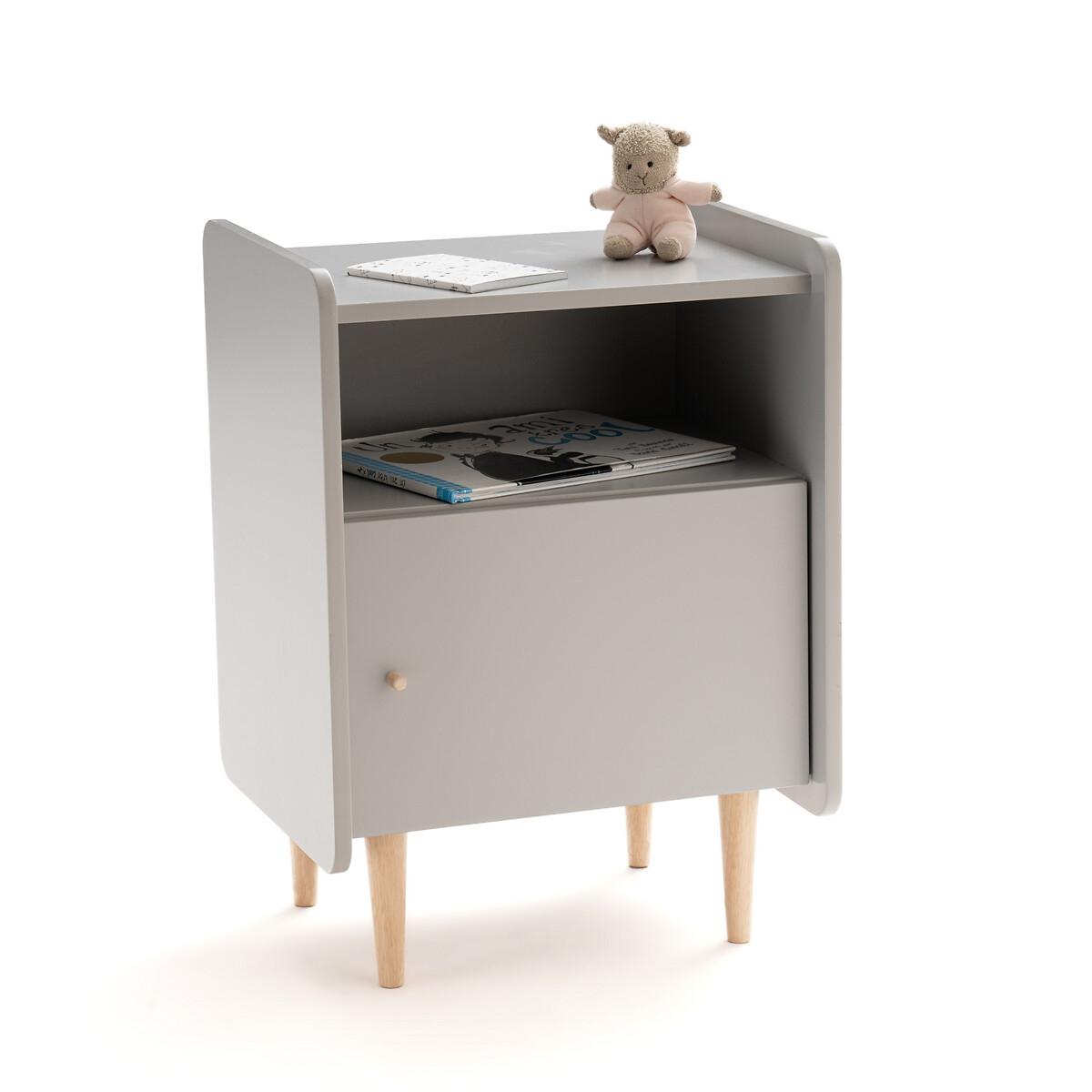 Столик LaRedoute Для изголовья детский Zag единый размер серый