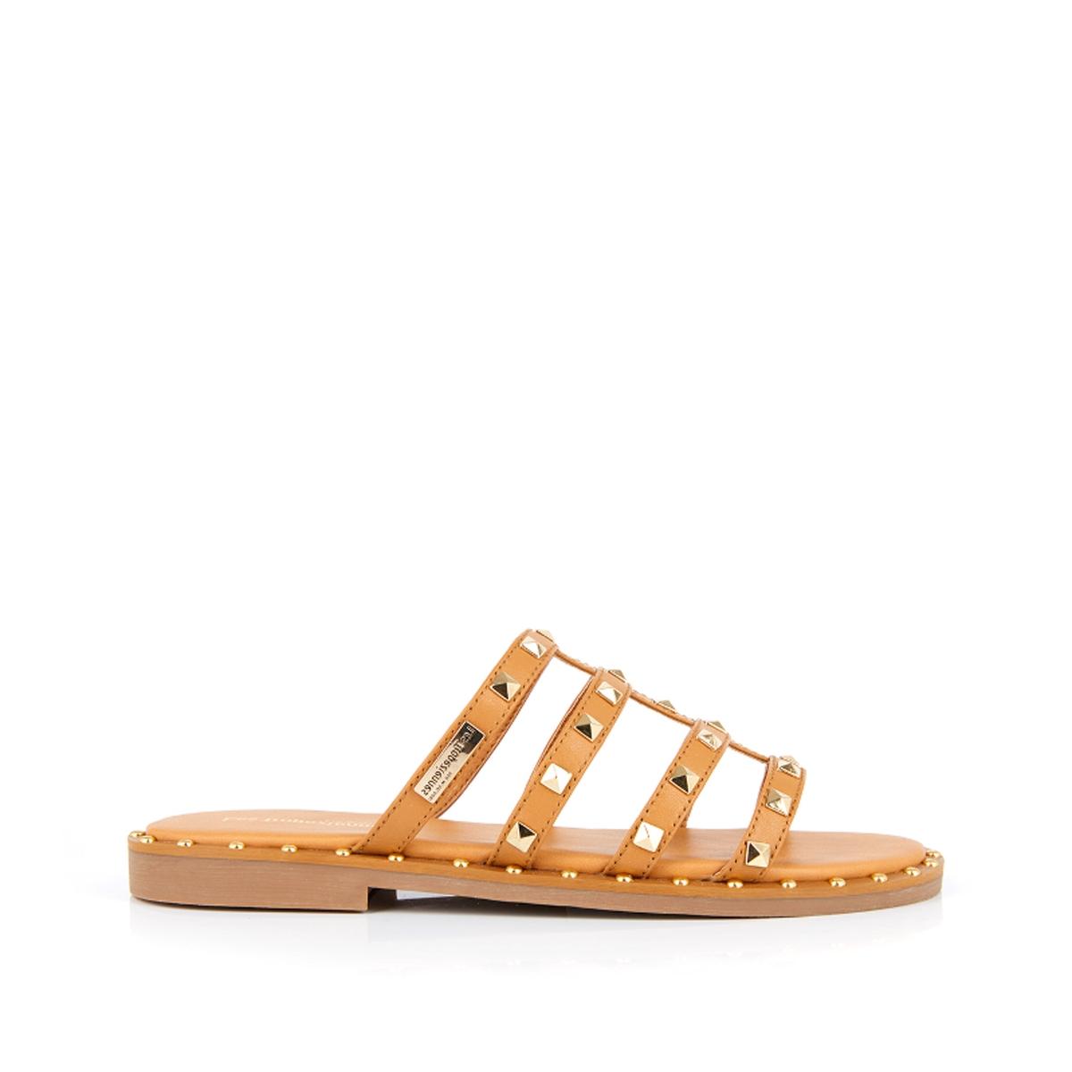 Туфли La Redoute Без задника кожаные Dory 39 желтый