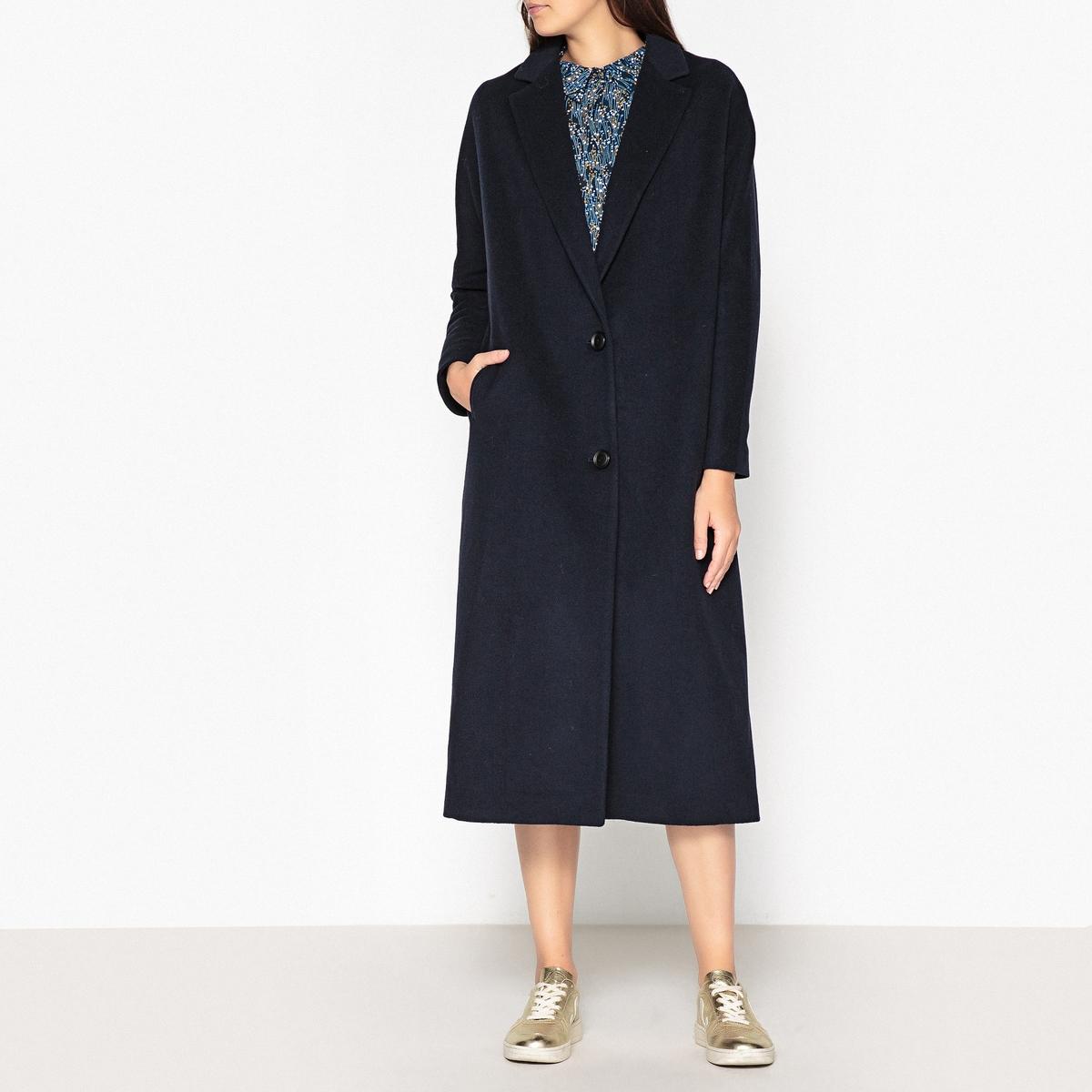 Пальто длинное из шерсти и кашемира SAMARA